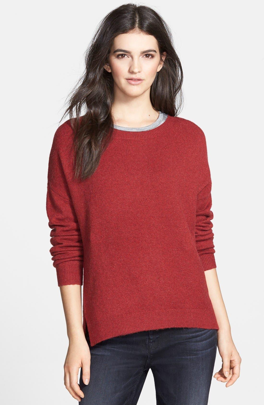 Alternate Image 1 Selected - Hinge Zip Back Sweater