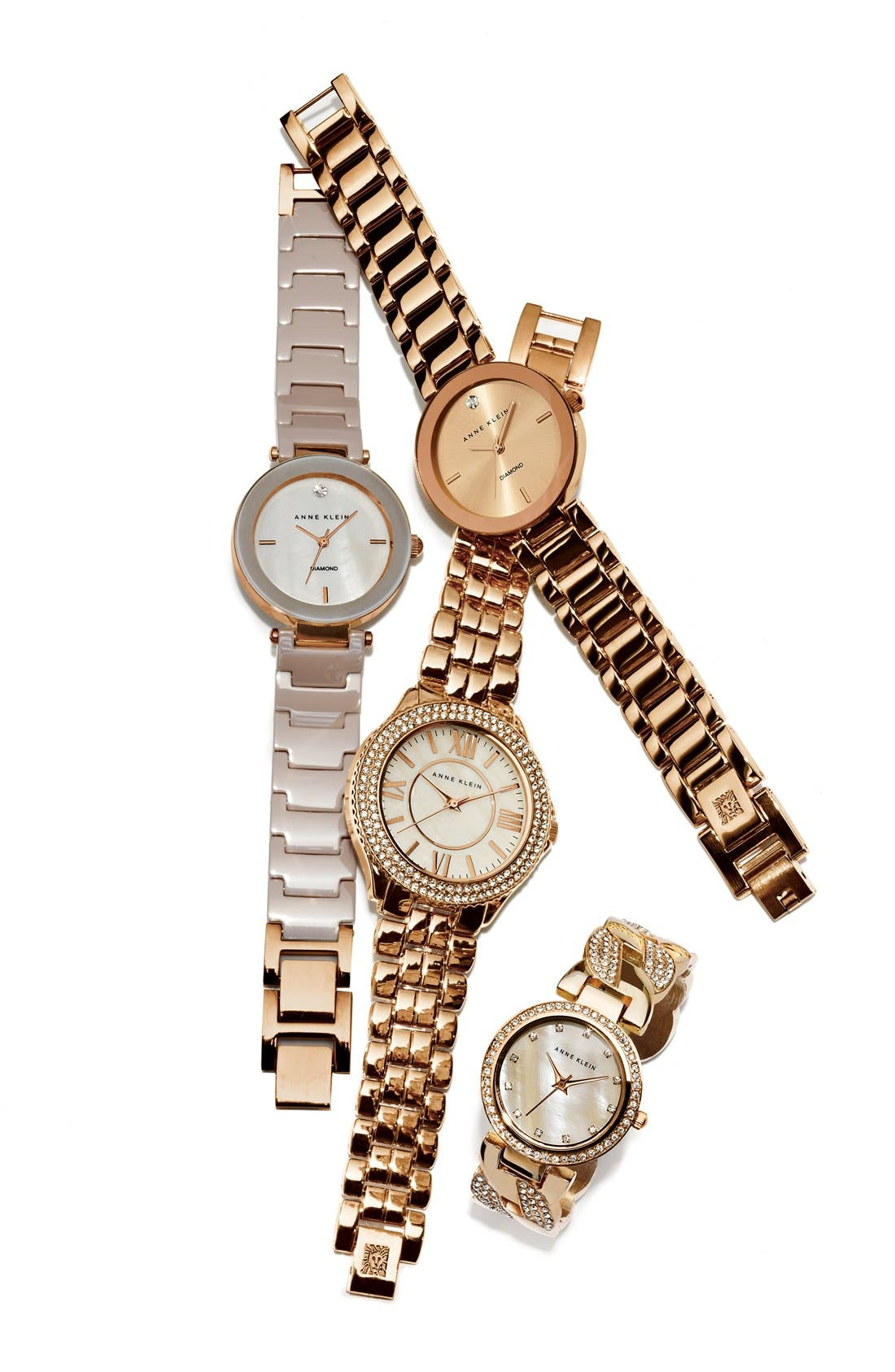 Alternate Image 2  - Anne Klein Crystal Bezel Bracelet Watch, 38mm