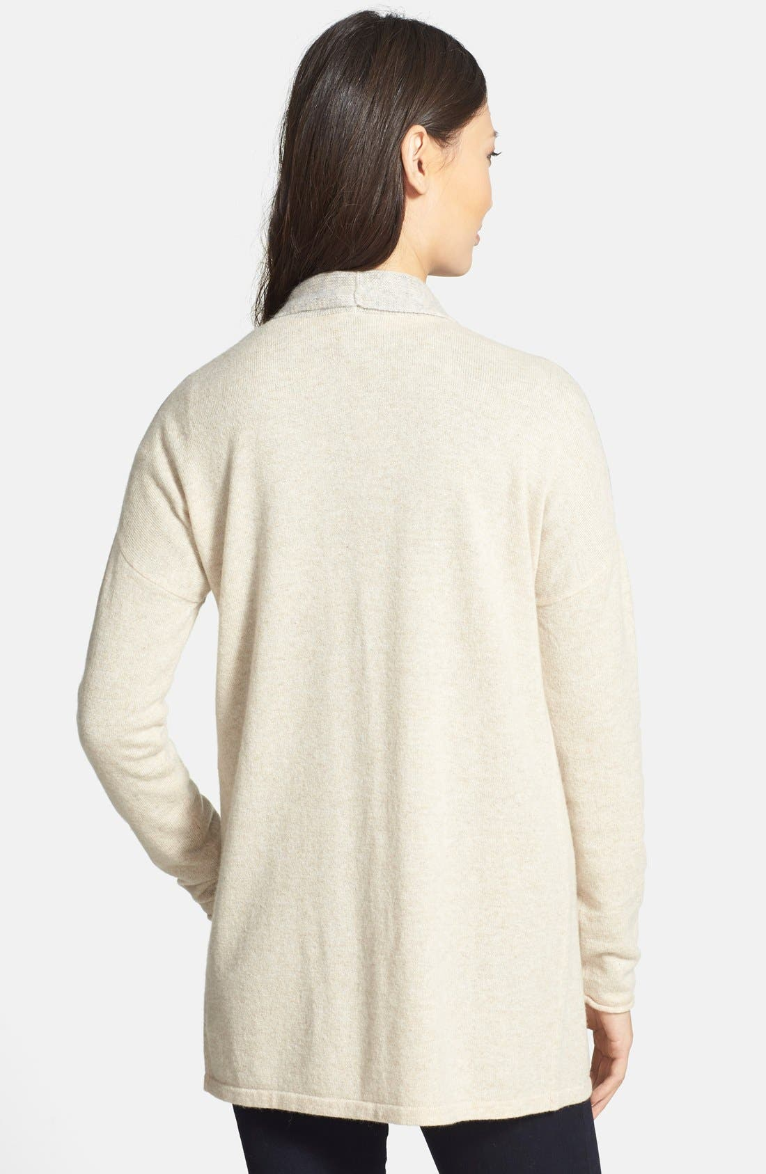 Alternate Image 2  - Griffen Marled Colorblock Cashmere Cardigan