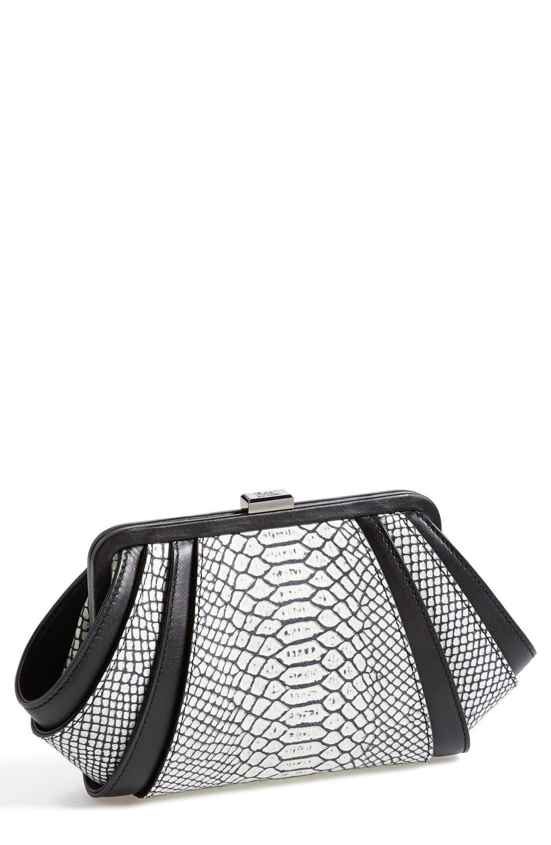Alternate Image 1 Selected - ZAC Zac Posen Snake Embossed Clutch