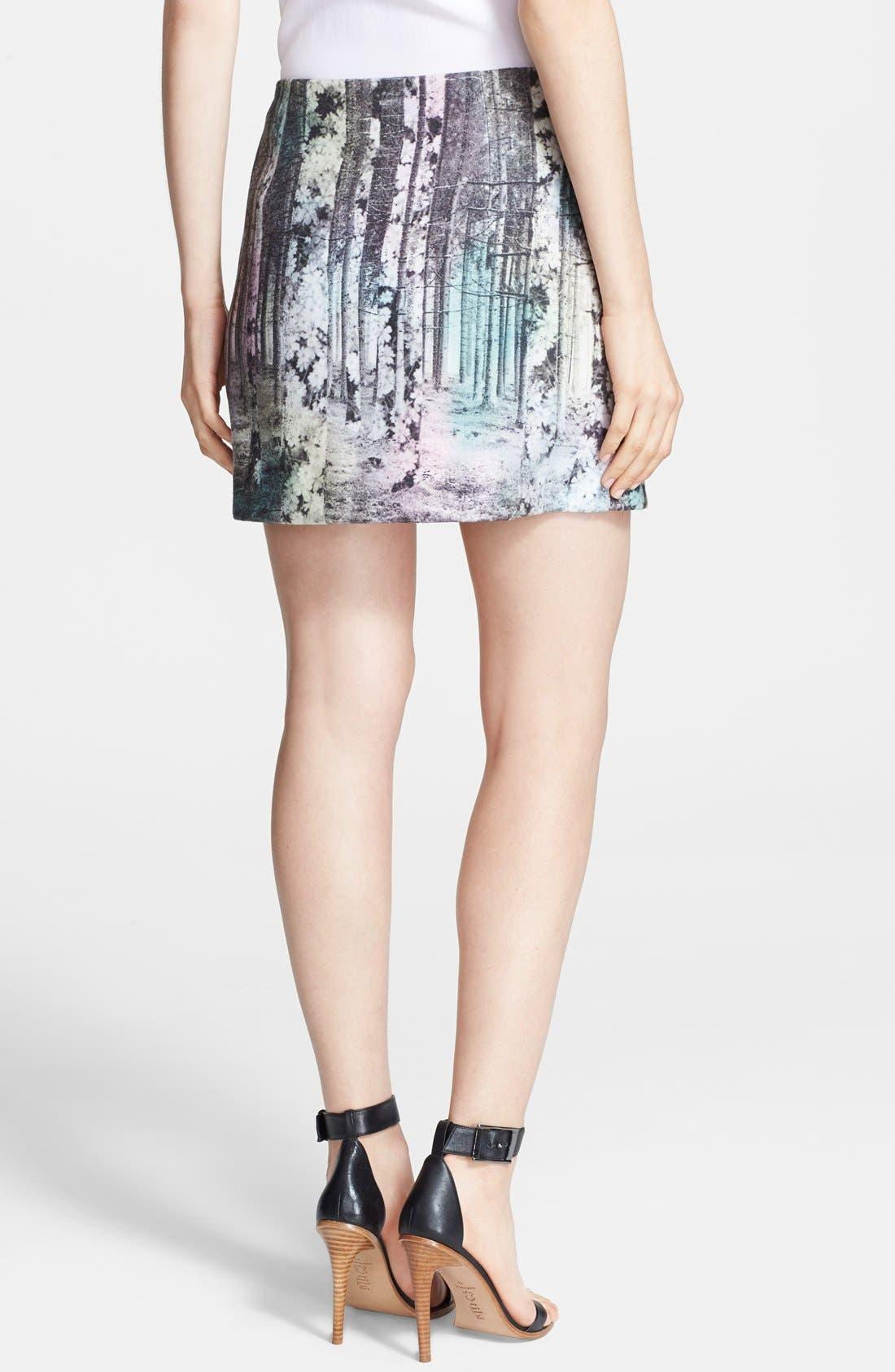 Alternate Image 2  - Tibi 'Enchanted Forest' Print Miniskirt