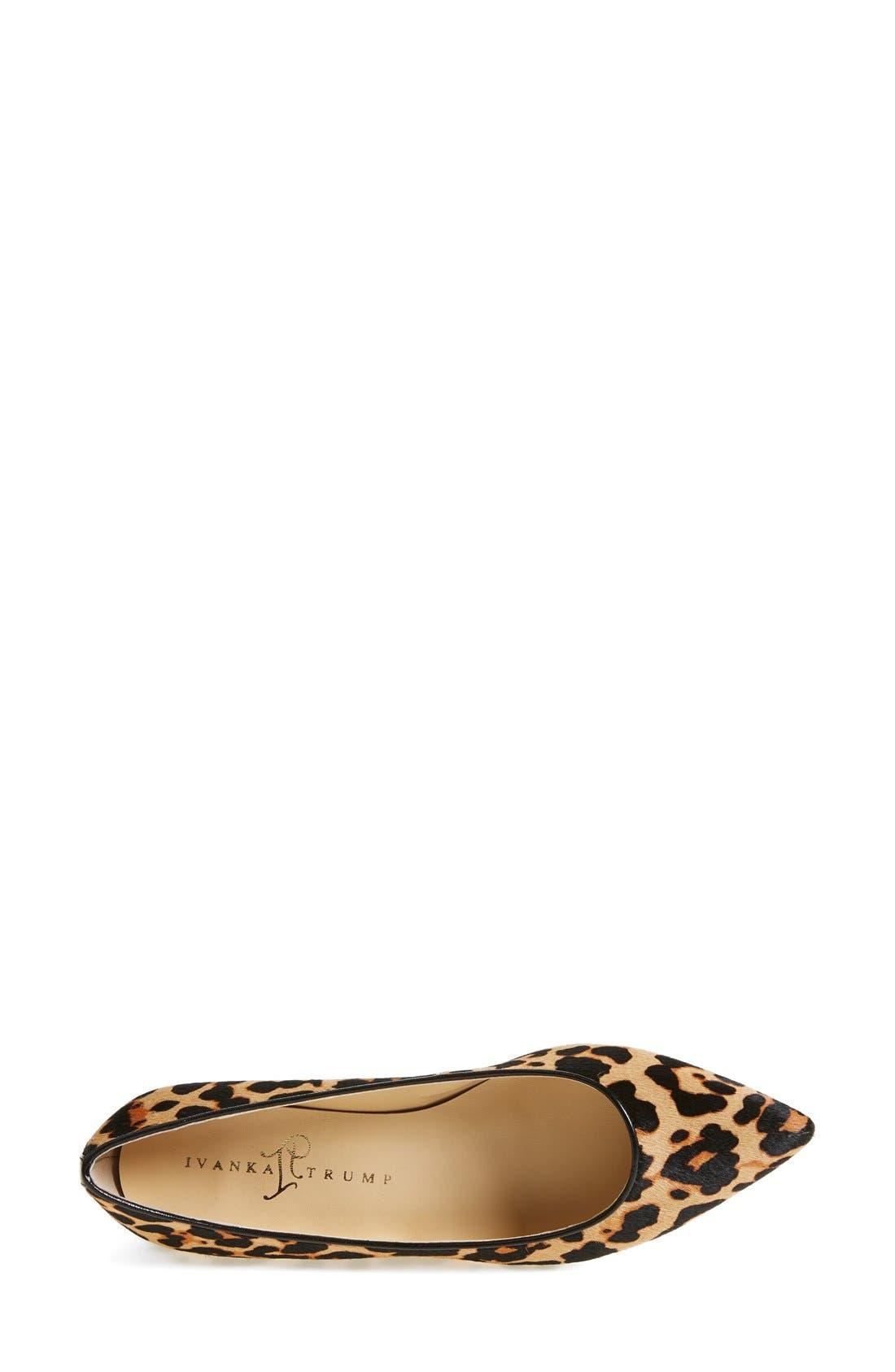 Alternate Image 3  - Ivanka Trump 'Chic' Genuine Calf Hair Flat (Women)