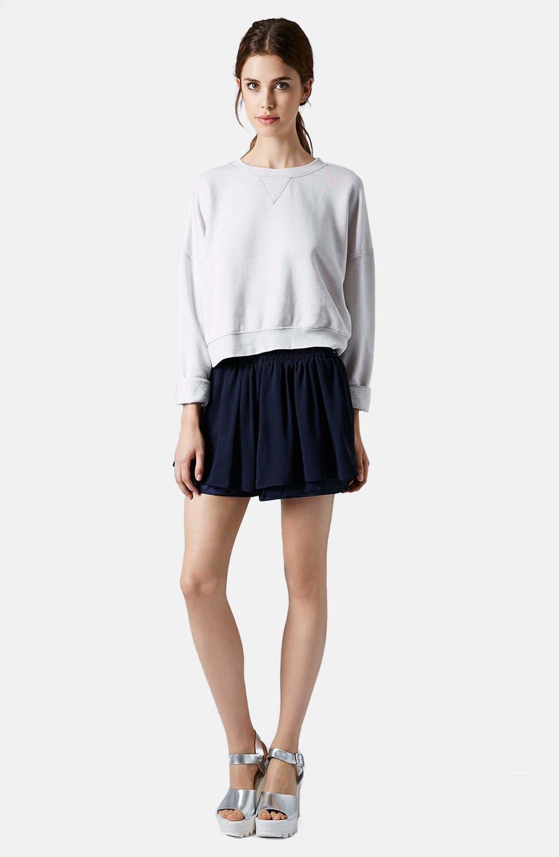 Alternate Image 4  - Topshop Long Sleeve Burnout Sweater