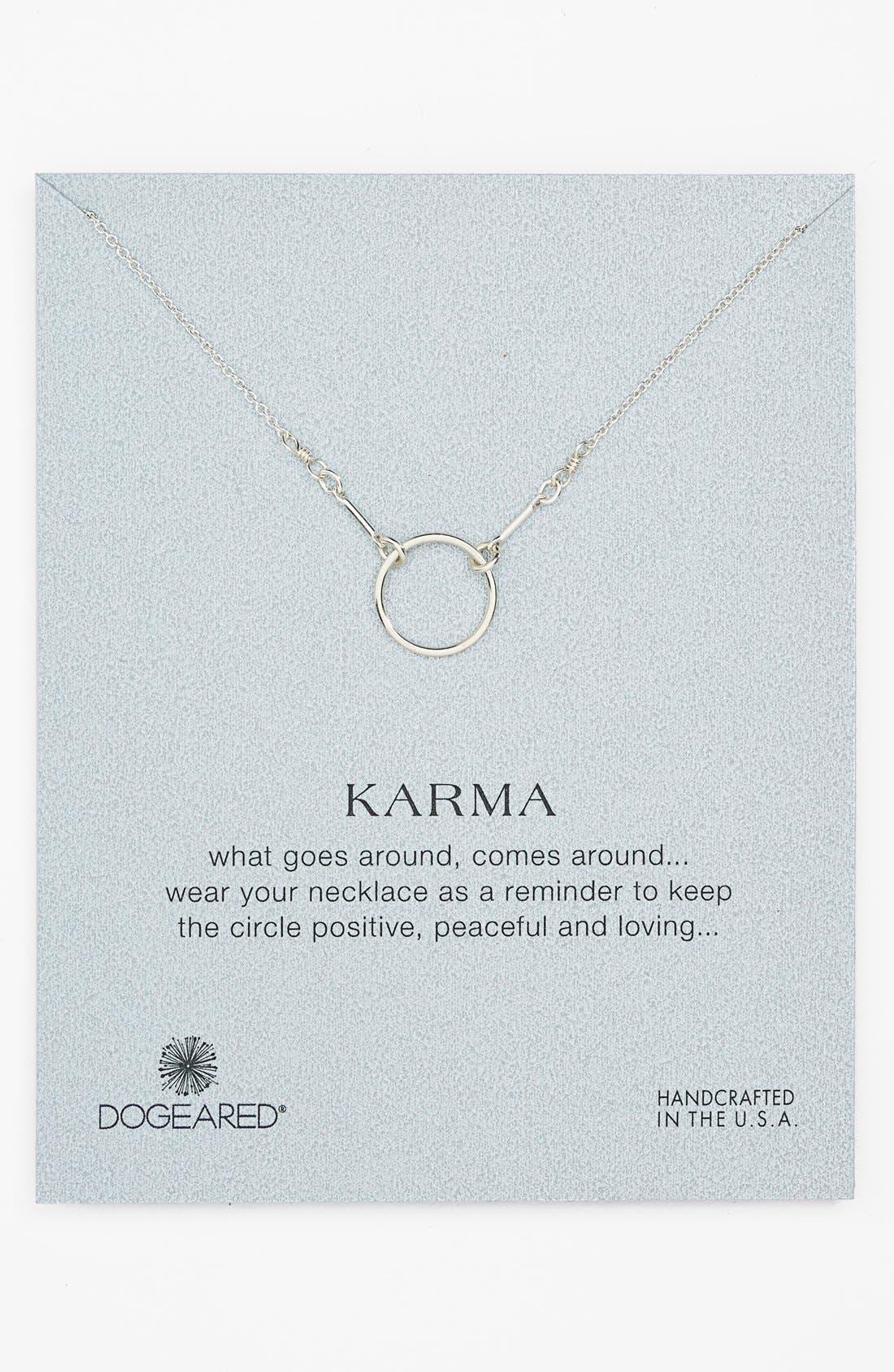 Alternate Image 1 Selected - Dogeared 'Reminder - Karma' Pendant Necklace