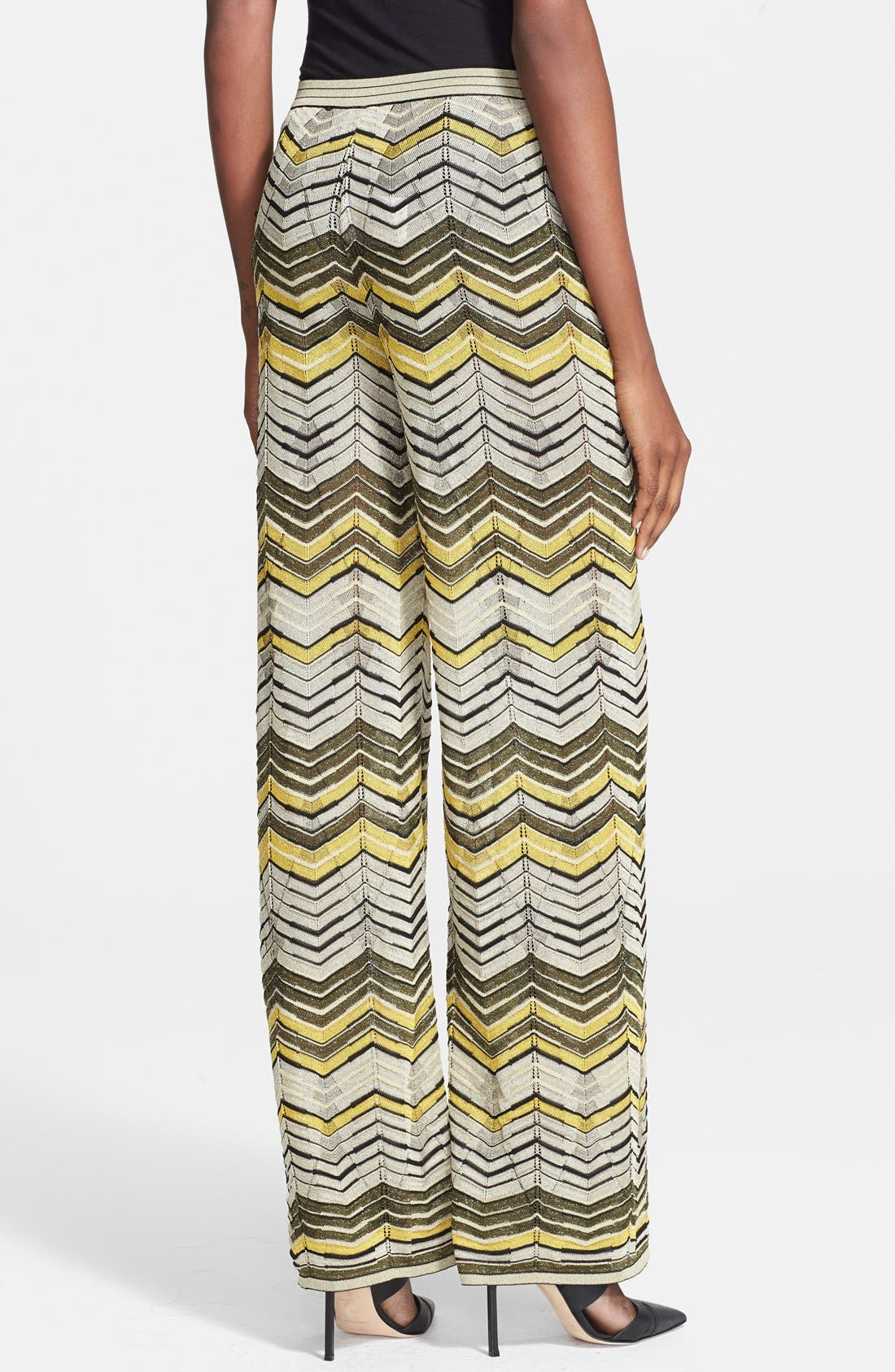 Alternate Image 2  - M Missoni Stripe Pointelle Knit Wide Leg Pants