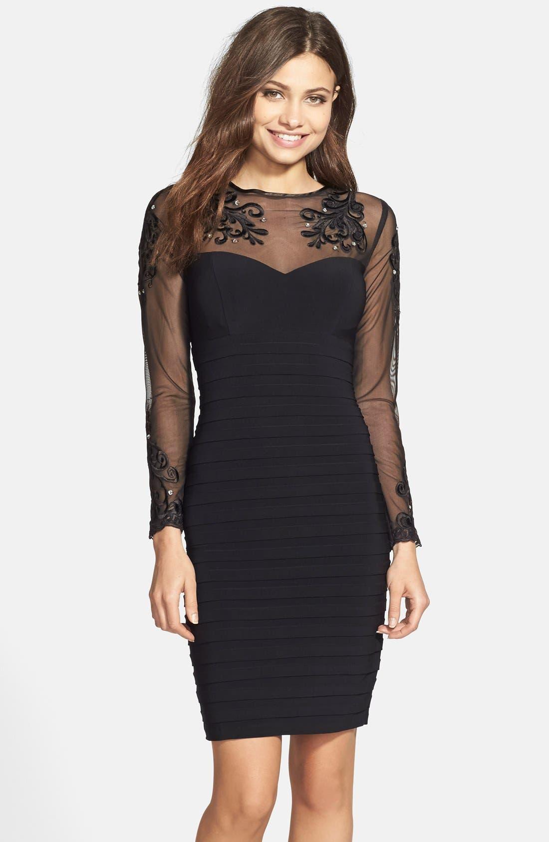 Alternate Image 1 Selected - Xscape Embellished Stretch Sheath Dress