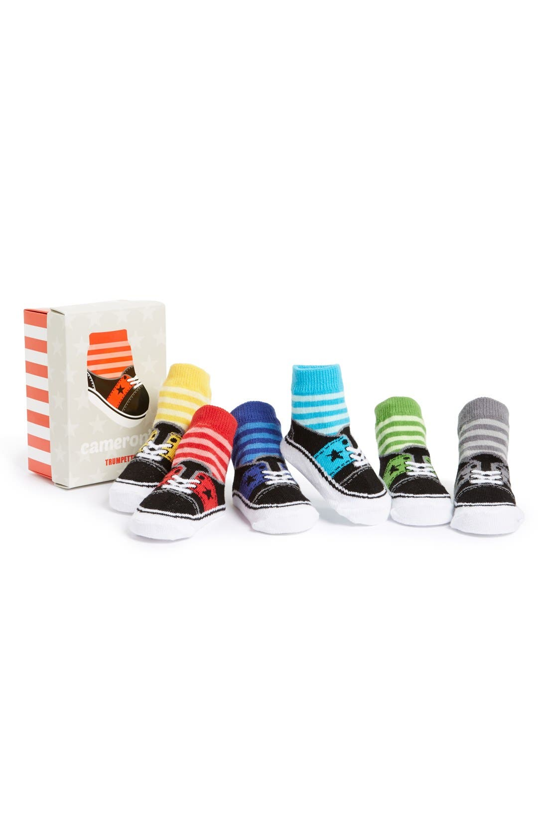 Alternate Image 1 Selected - Trumpette Cameron 6-Pack Socks (Baby Boys)