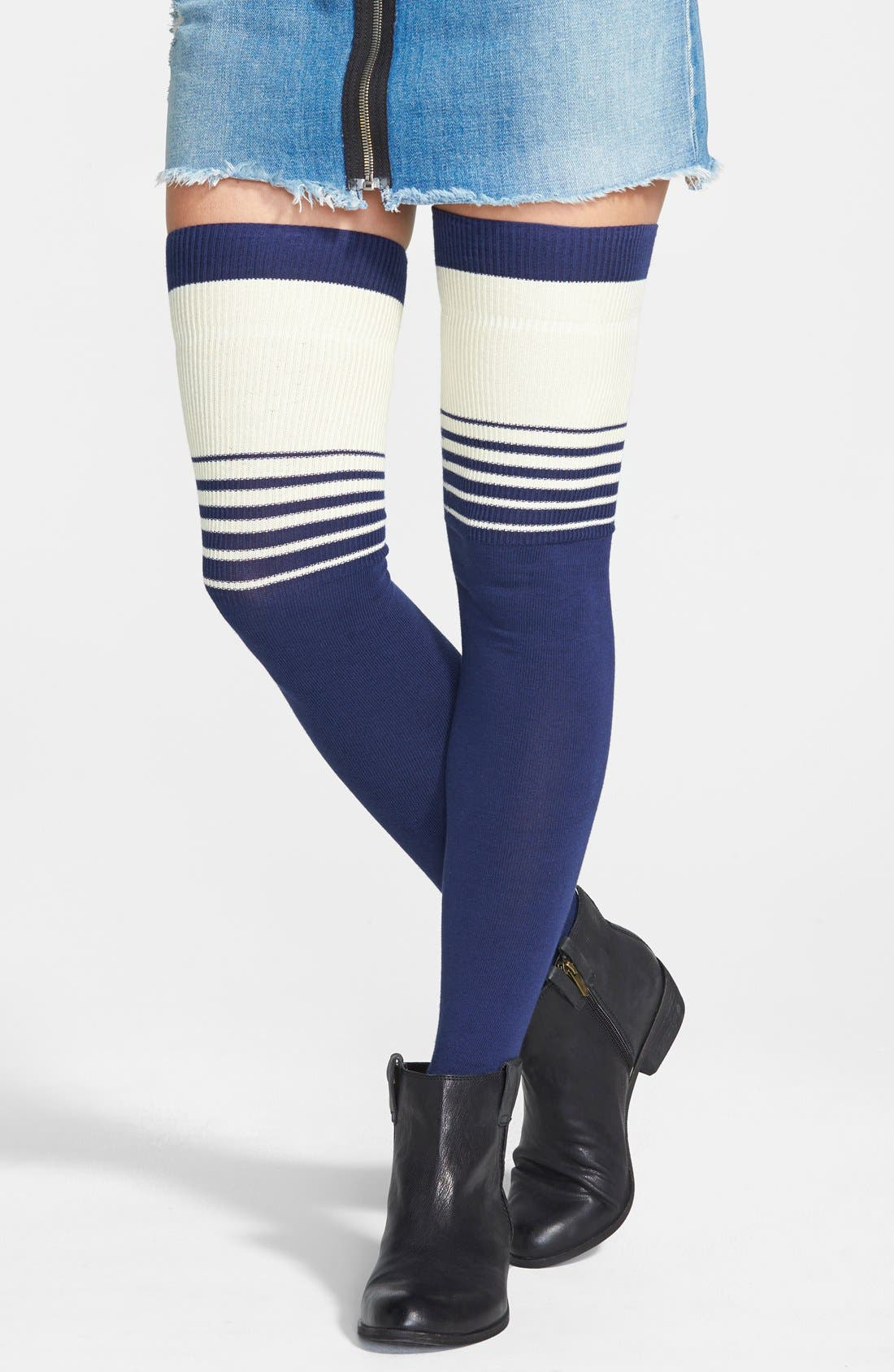Main Image - Free People 'Bowlers' Thigh High Socks