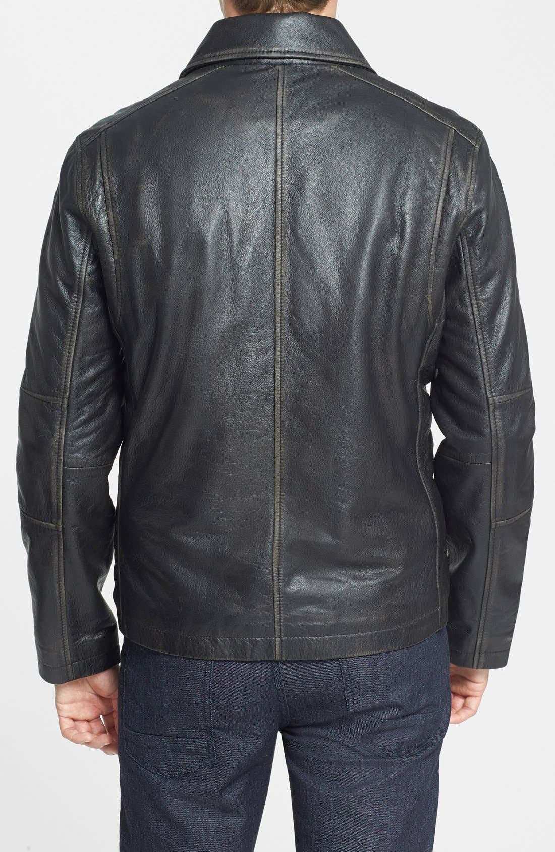 Alternate Image 2  - Marc New York by Andrew Marc 'Romney' Distressed Leather Jacket (Online Only)
