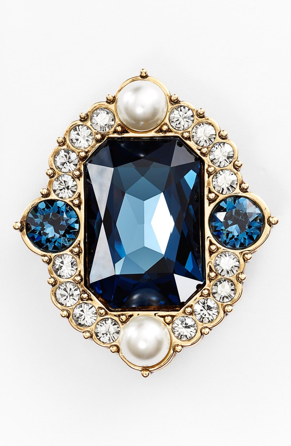 Main Image - St. John Collection Glass Pearl & Crystal Brooch