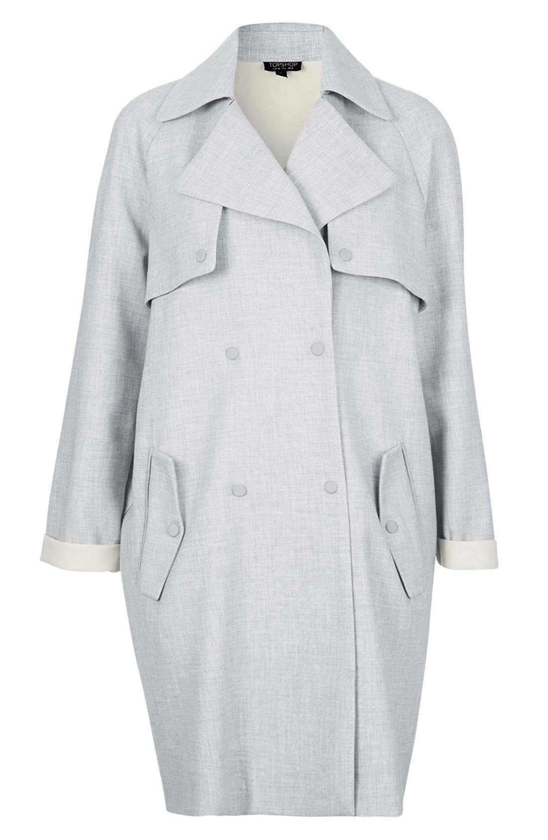Alternate Image 3  - Topshop Soft Bonded Trench Coat