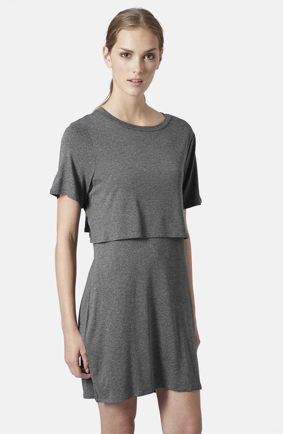 Main Image - Topshop Overlay T-Shirt Dress