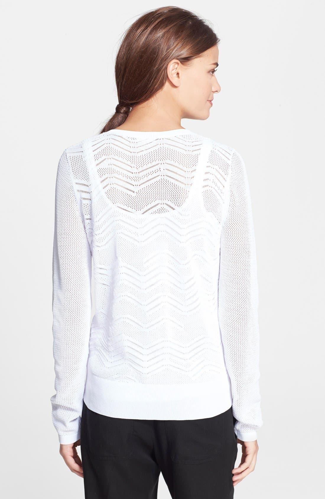 Alternate Image 2  - Vince Zigzag Crewneck Sweater