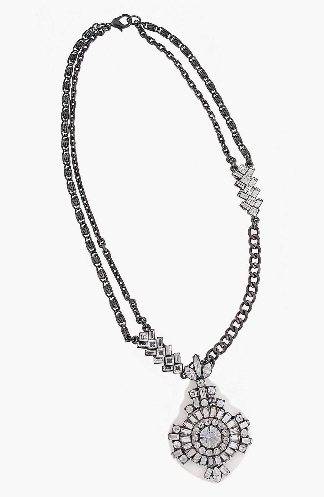 Main Image - Erickson Beamon Rocks 'Heart of Glass' Pendant Necklace