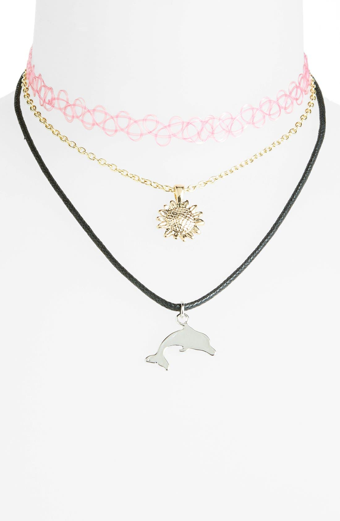 Alternate Image 1 Selected - Topshop Necklaces (3-Pack)