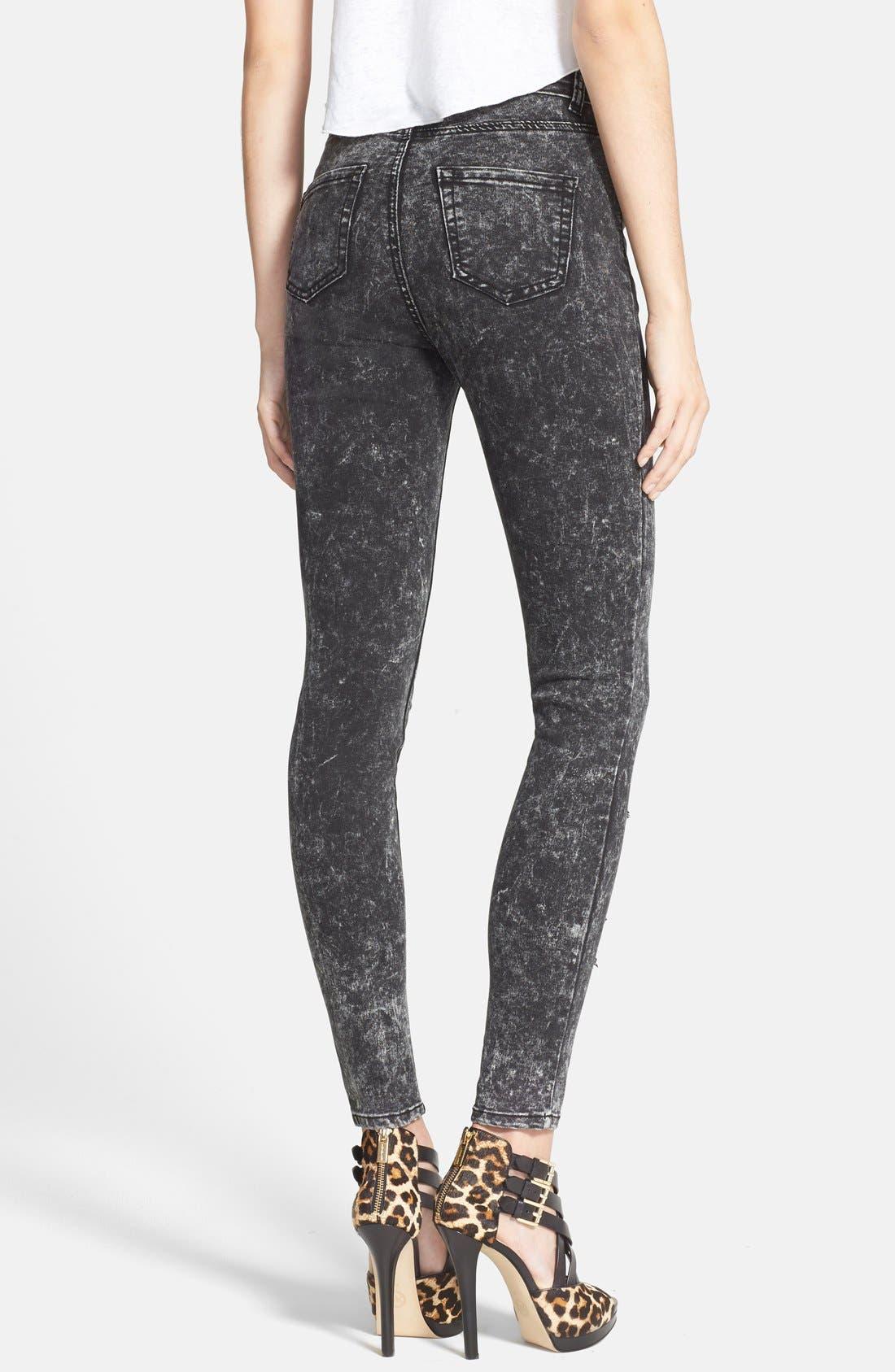 Alternate Image 2  - Glamorous Distressed Skinny Pants