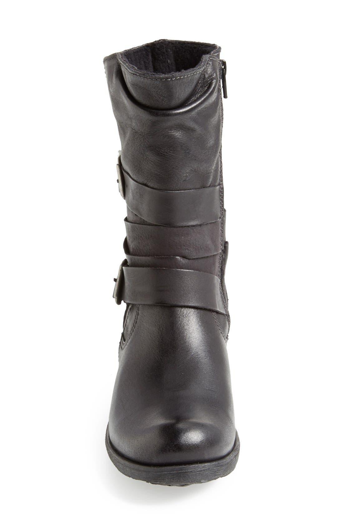 Alternate Image 3  - Bos. & Co. 'Katie' Waterproof Leather Moto Boot (Women)