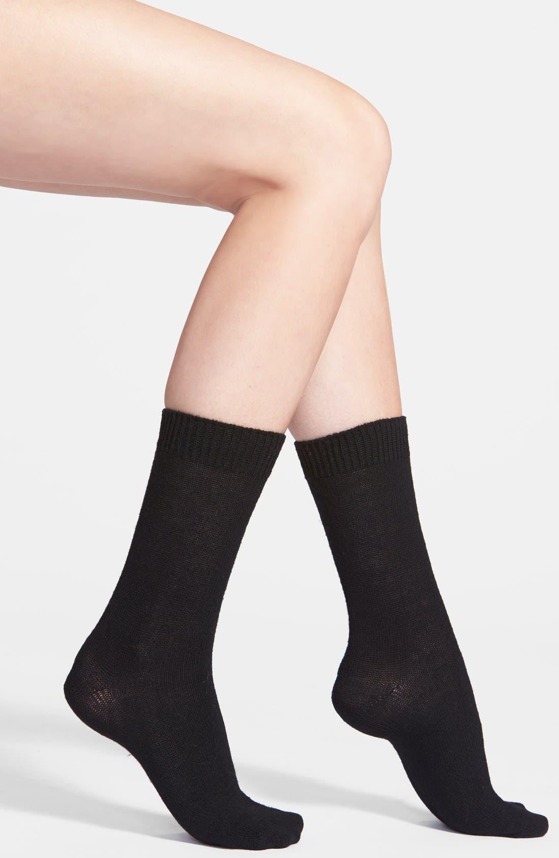 Alternate Image 1 Selected - Nordstrom 'Luxury' Crew Socks