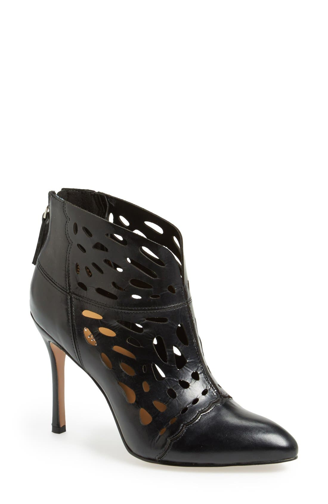 Alternate Image 1 Selected - Nine West 'Darenne' Cutout Ankle Bootie (Women)