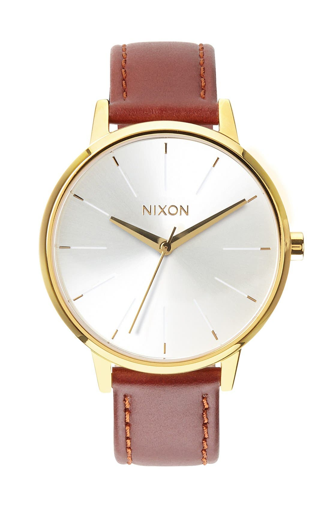 NIXON 'The Kensington' Leather Strap Watch, 37mm