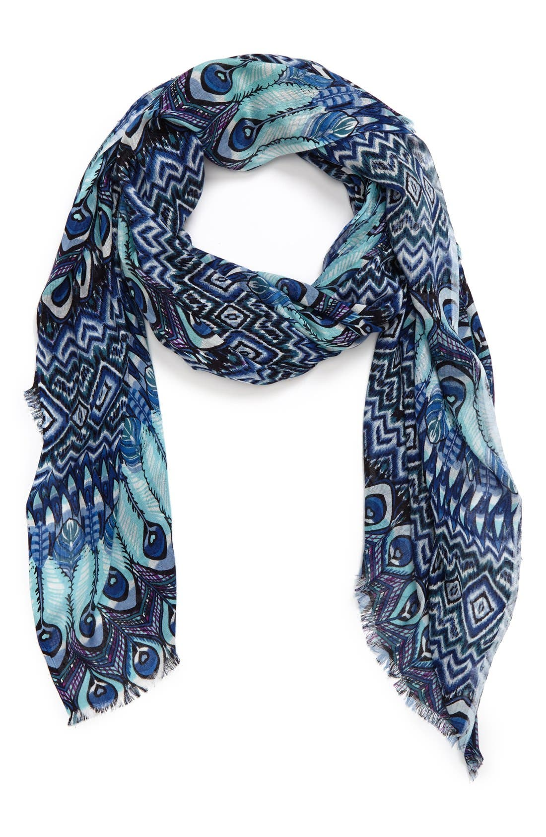Main Image - Sole Society Peacock Print Scarf