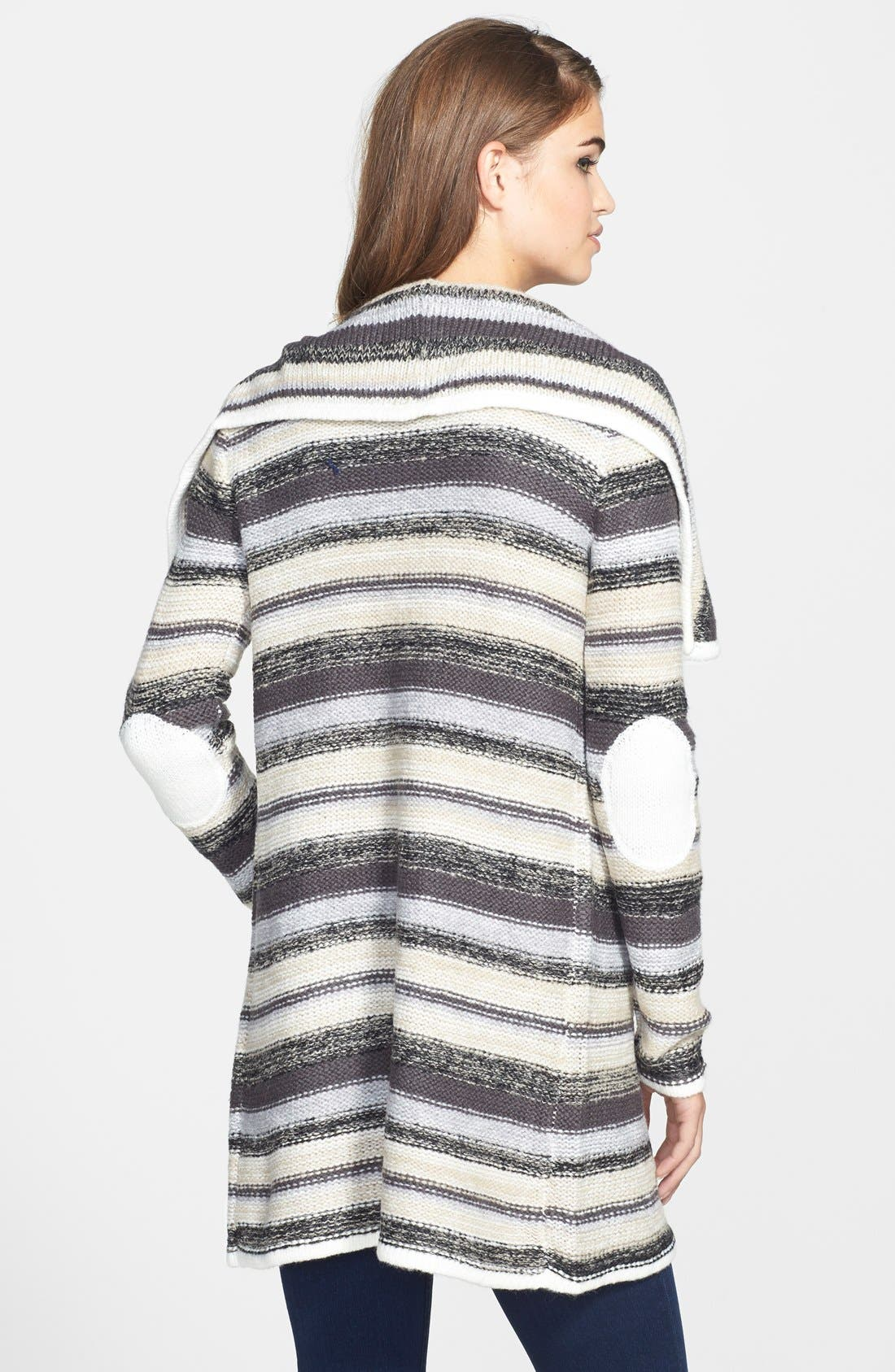 Alternate Image 2  - kensie Stripe Knit Cardigan