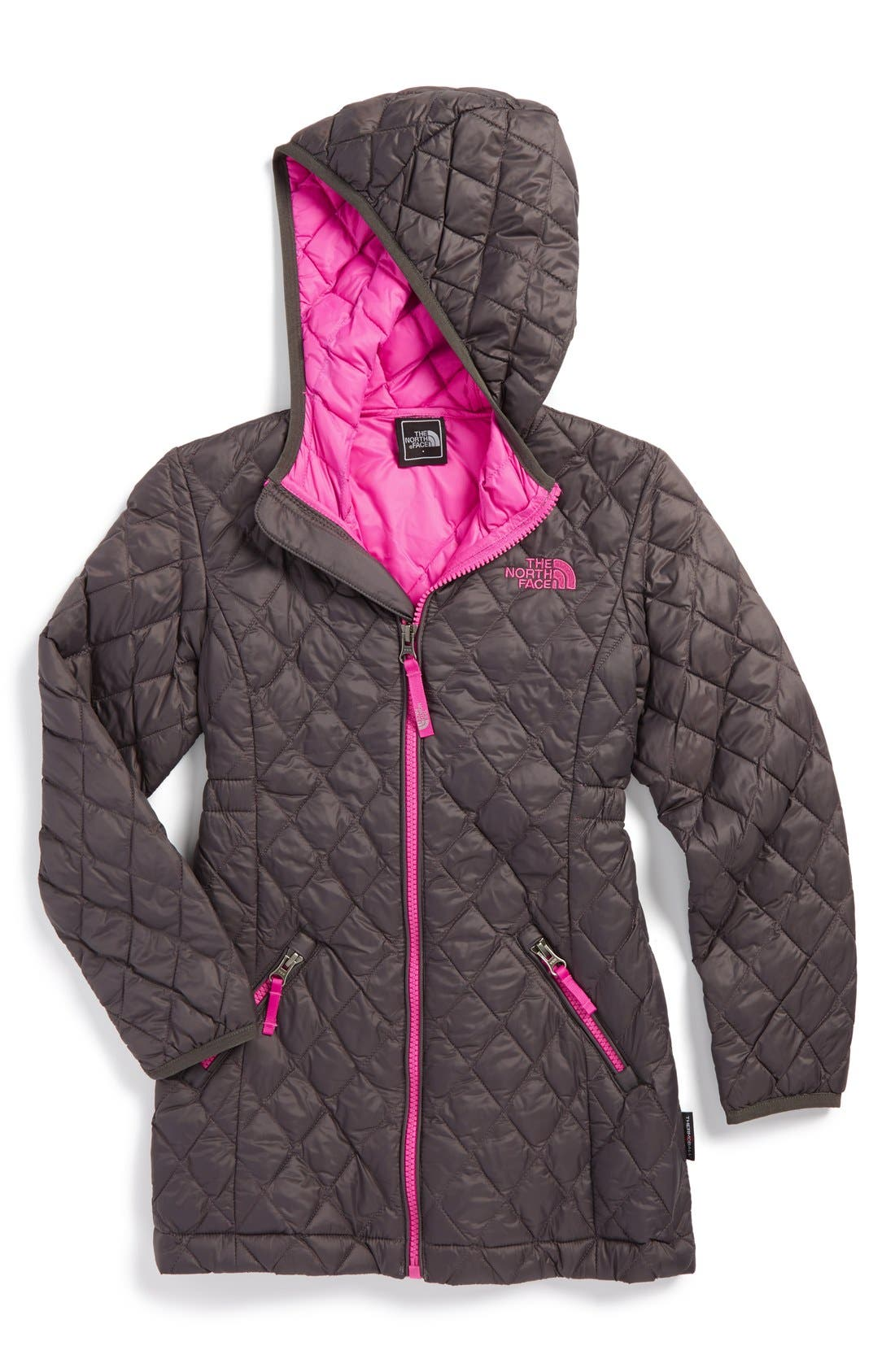 The North Face 'ThermoBall™' PrimaLoft® Quilted Parka (Little Girls)