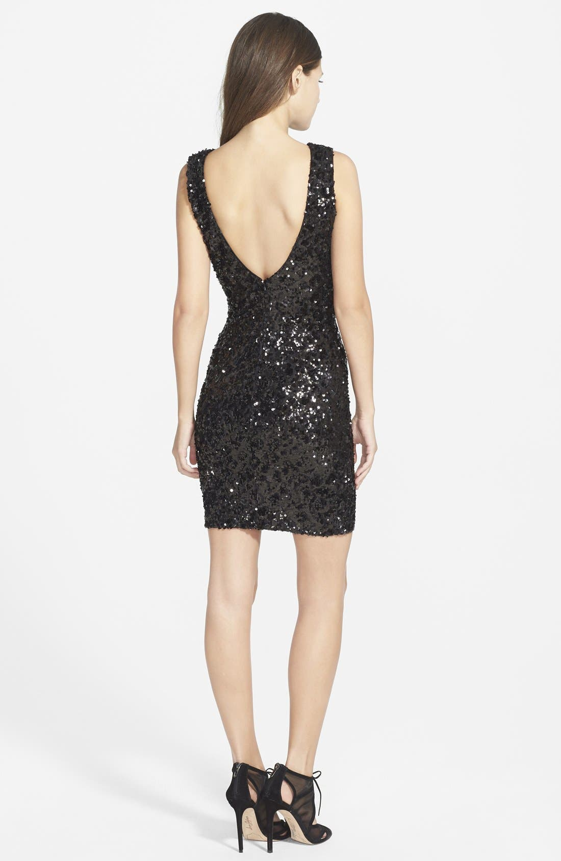 Alternate Image 2  - Dress the Population 'Kim' Sequin Body-Con Dress