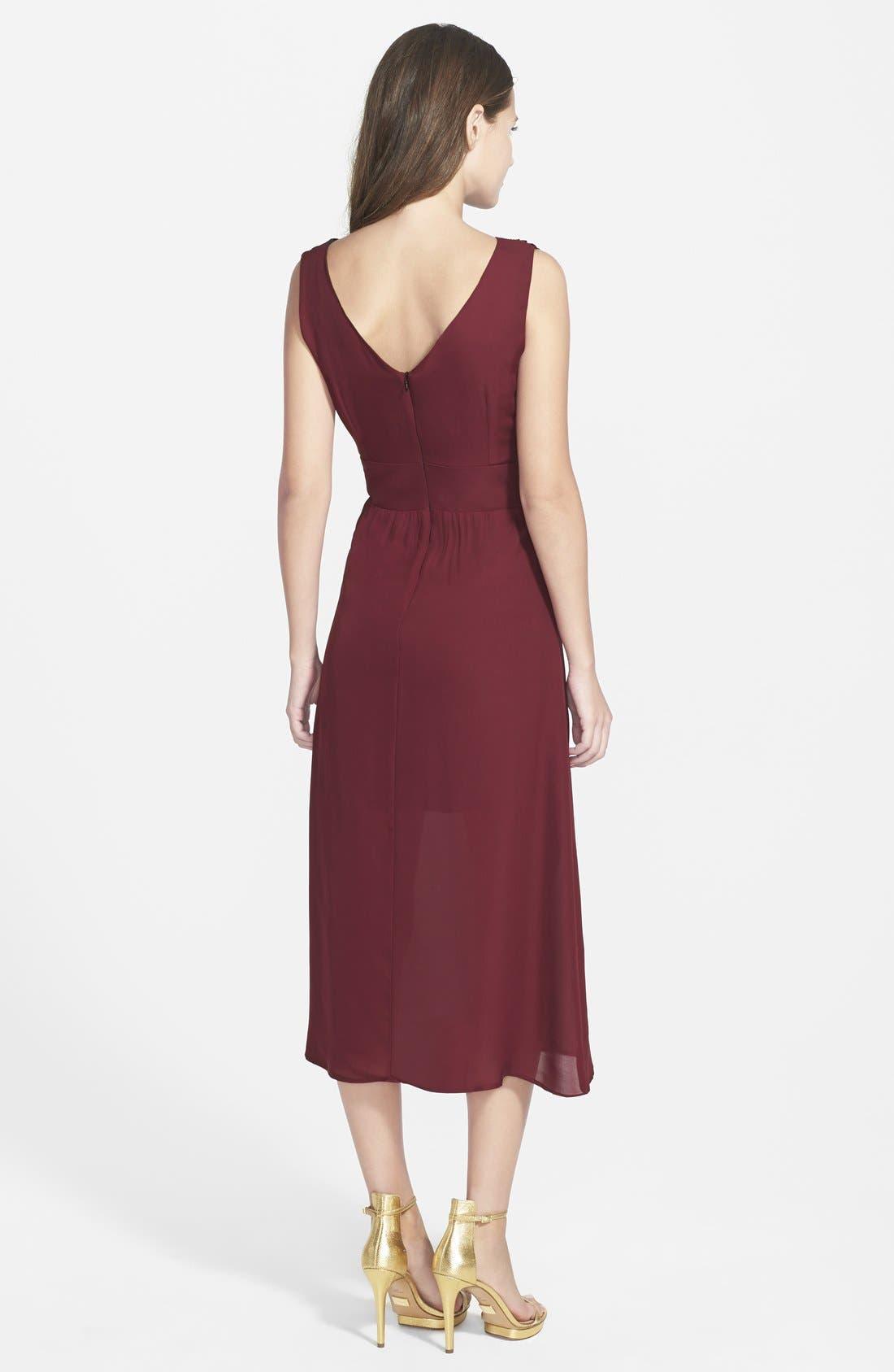 Alternate Image 2  - Myne Silk Midi Dress