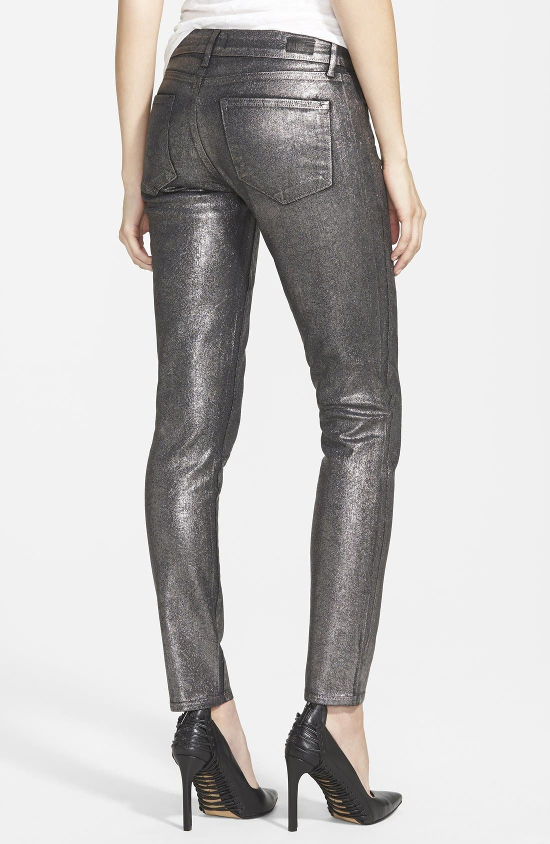 Alternate Image 2  - Paige Denim 'Verdugo' Ultra Skinny Jeans (Pewter Crackle)