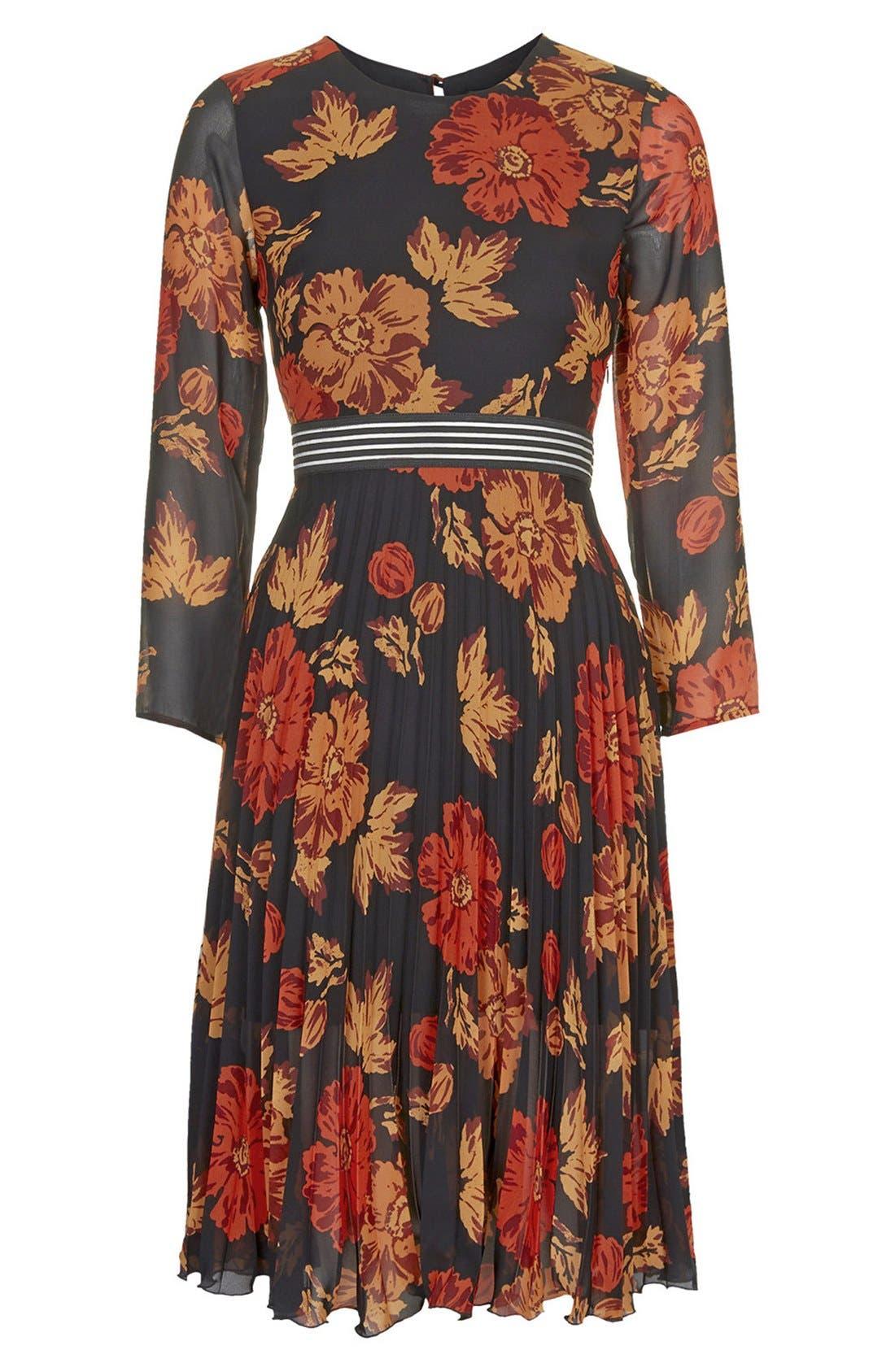 Alternate Image 3  - Topshop 'Bloomsbury' Floral Print Midi Dress