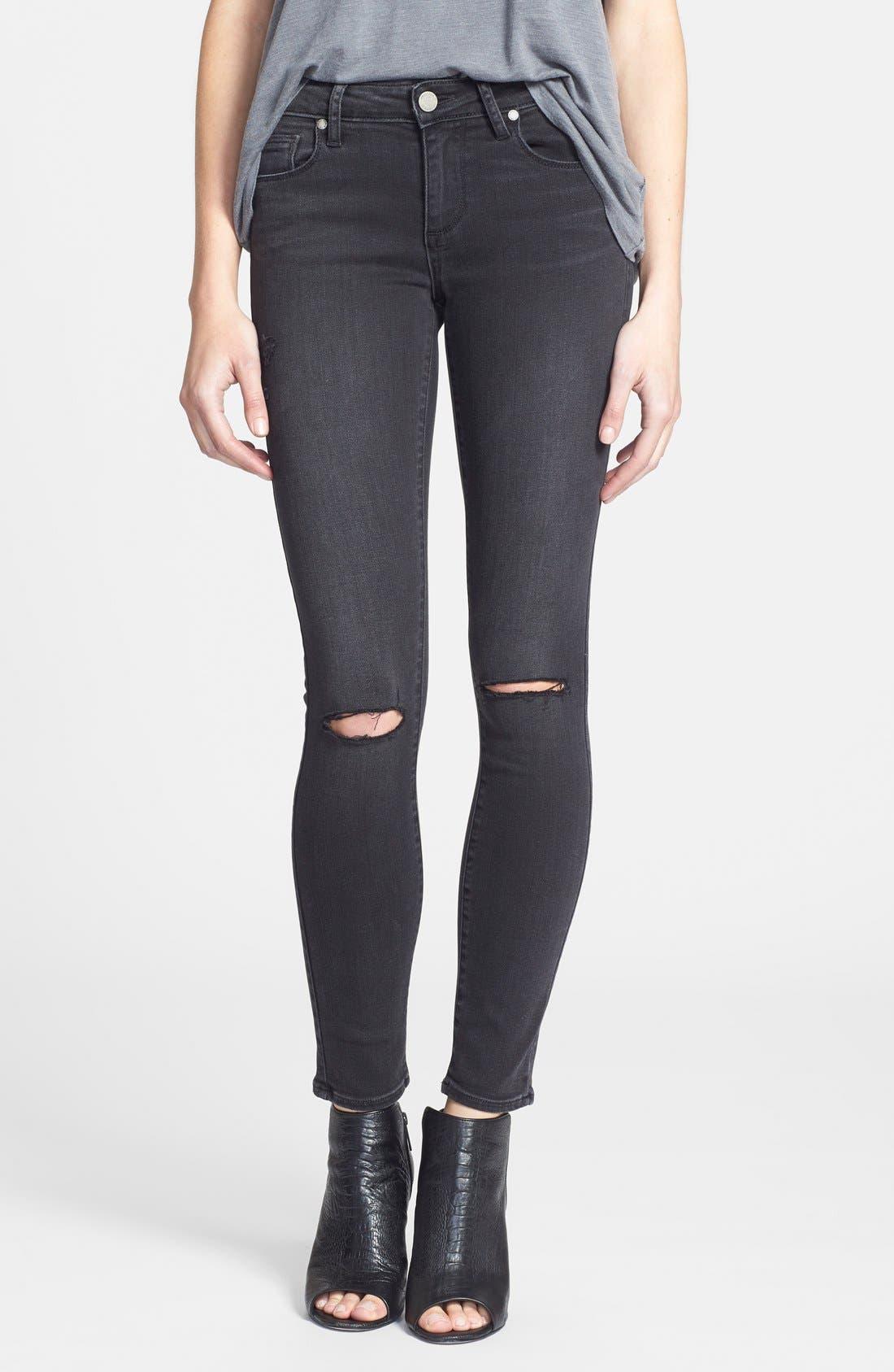 Main Image - Paige Denim 'Verdugo' Ultra Skinny Jeans (Rayed Destructed)