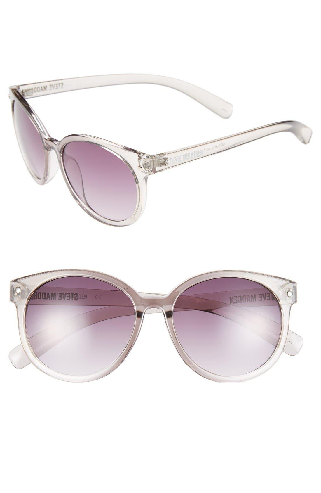 Alternate Image 1 Selected - Steve Madden 'Crystal' 54mm Oval Sunglasses