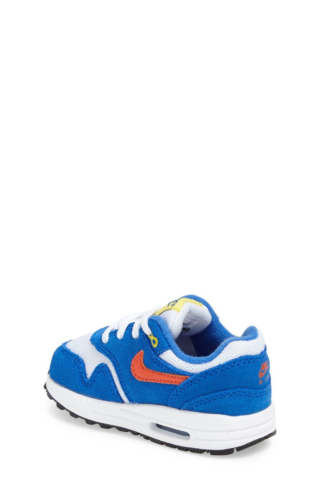 Alternate Image 2  - Nike 'Air Max 1 TD' Sneaker (Baby, Walker & Toddler)