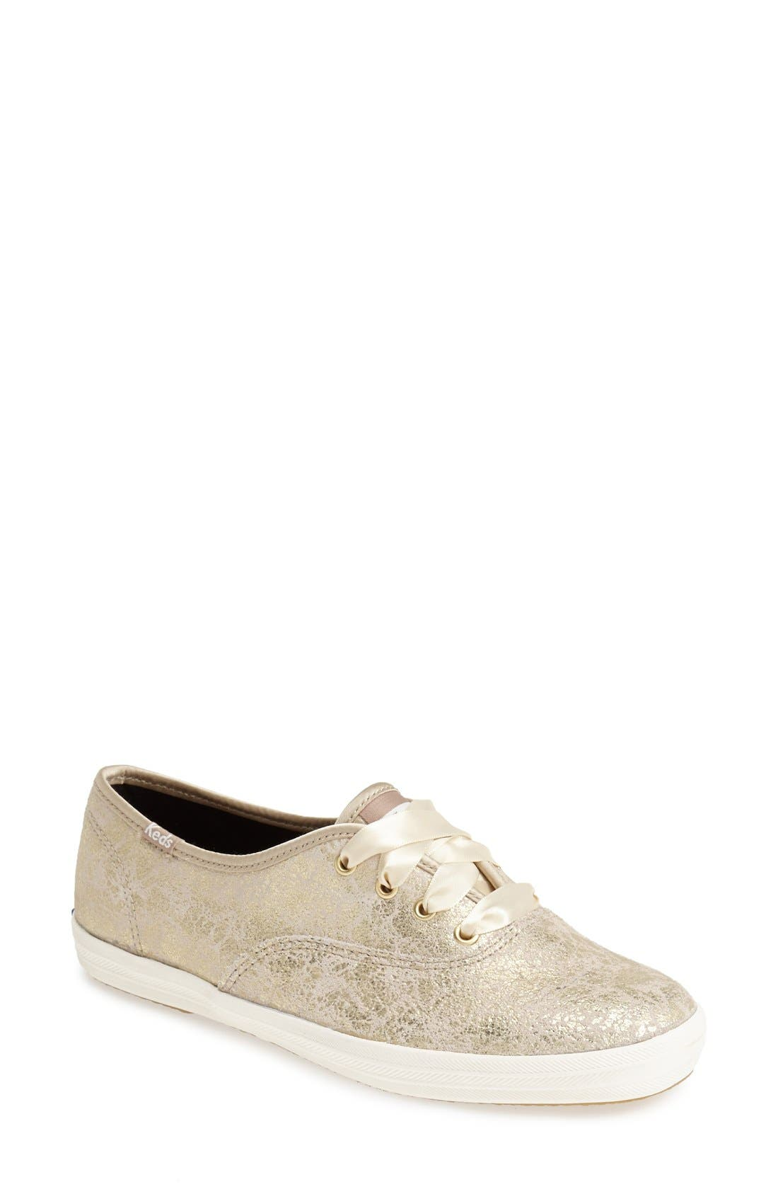 Alternate Image 1 Selected - Keds® 'Champion' Metallic Leather Sneaker (Women)