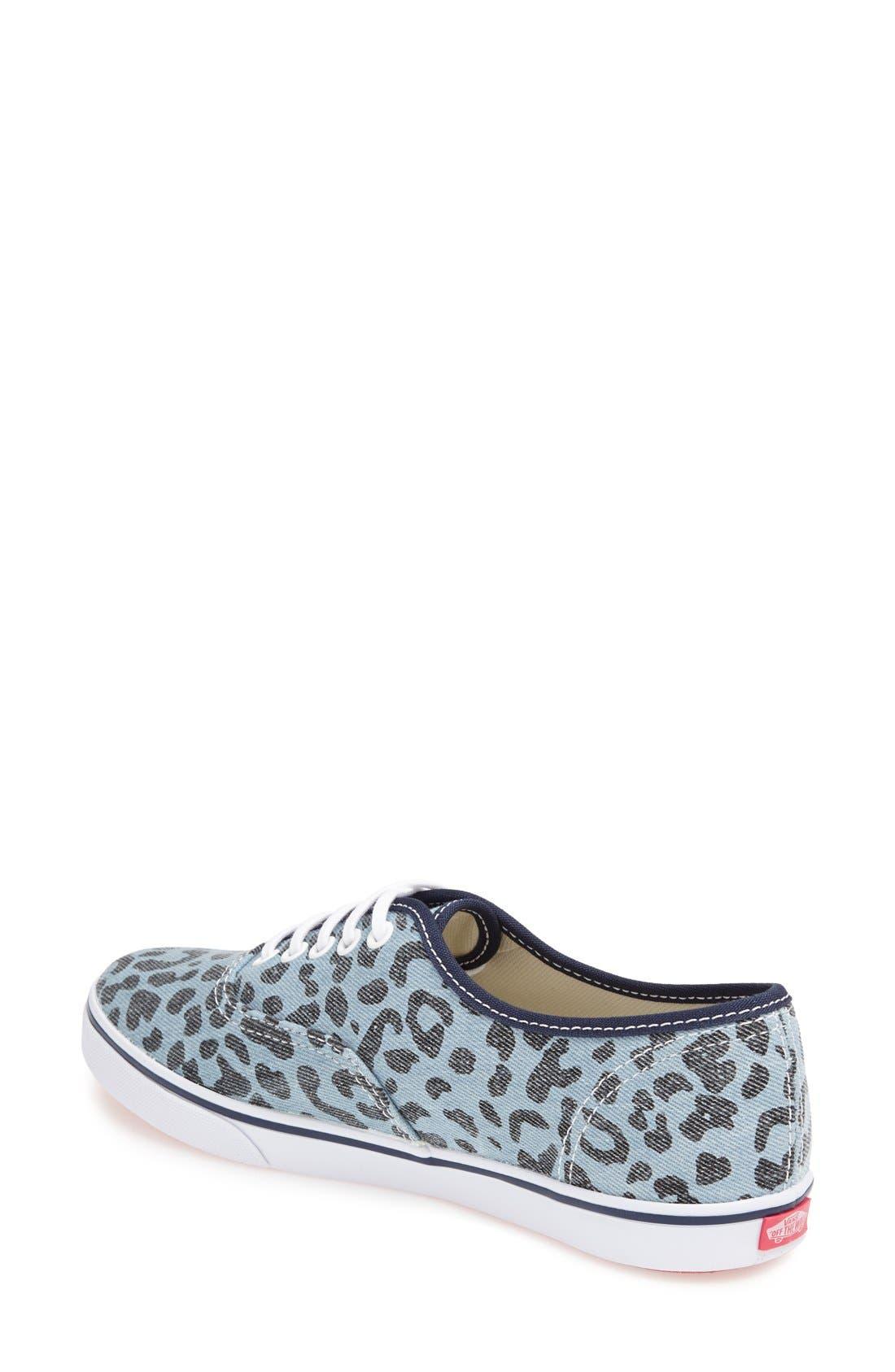 Alternate Image 2  - Vans 'Authentic - Lo Pro' Leopard Print Sneaker (Women)