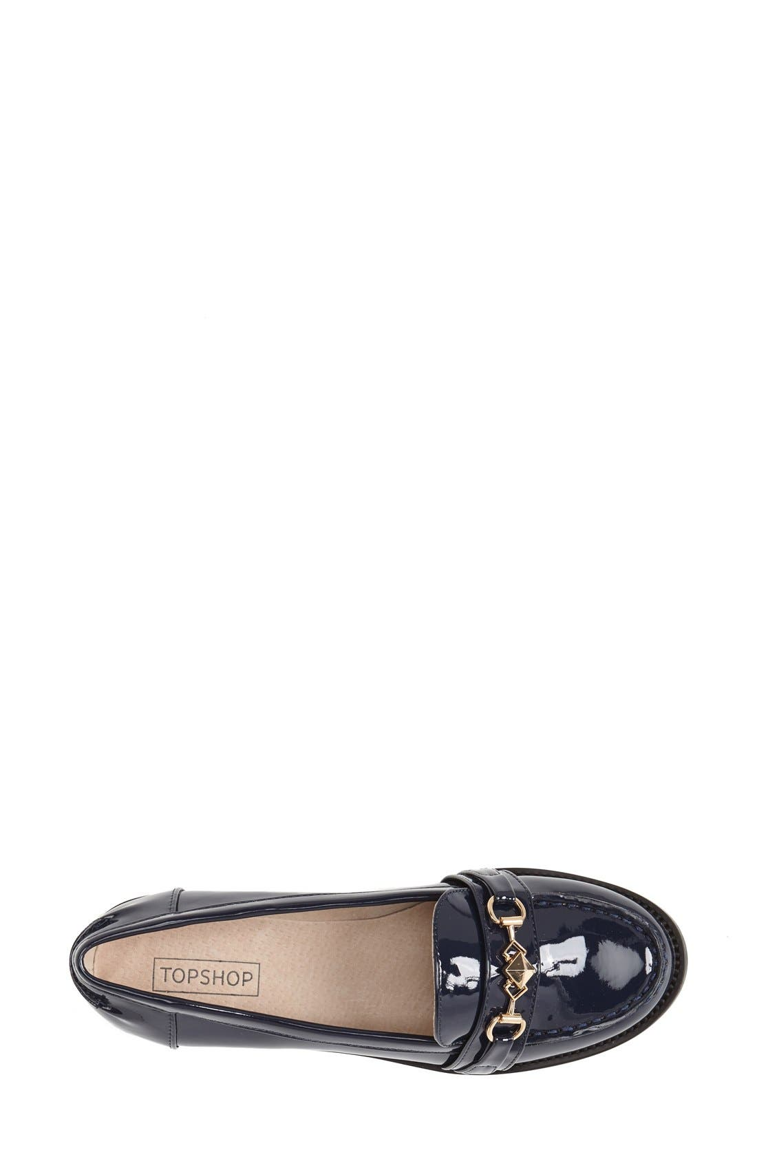 Alternate Image 3  - Topshop 'Latch' Trim Loafer (Women)