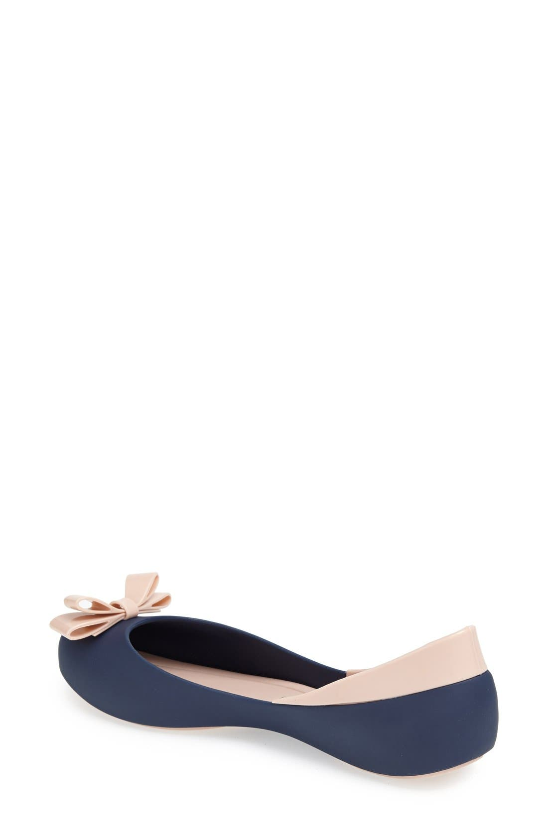 Alternate Image 2  - Melissa 'Queen' Peep-Toe Flat (Women)