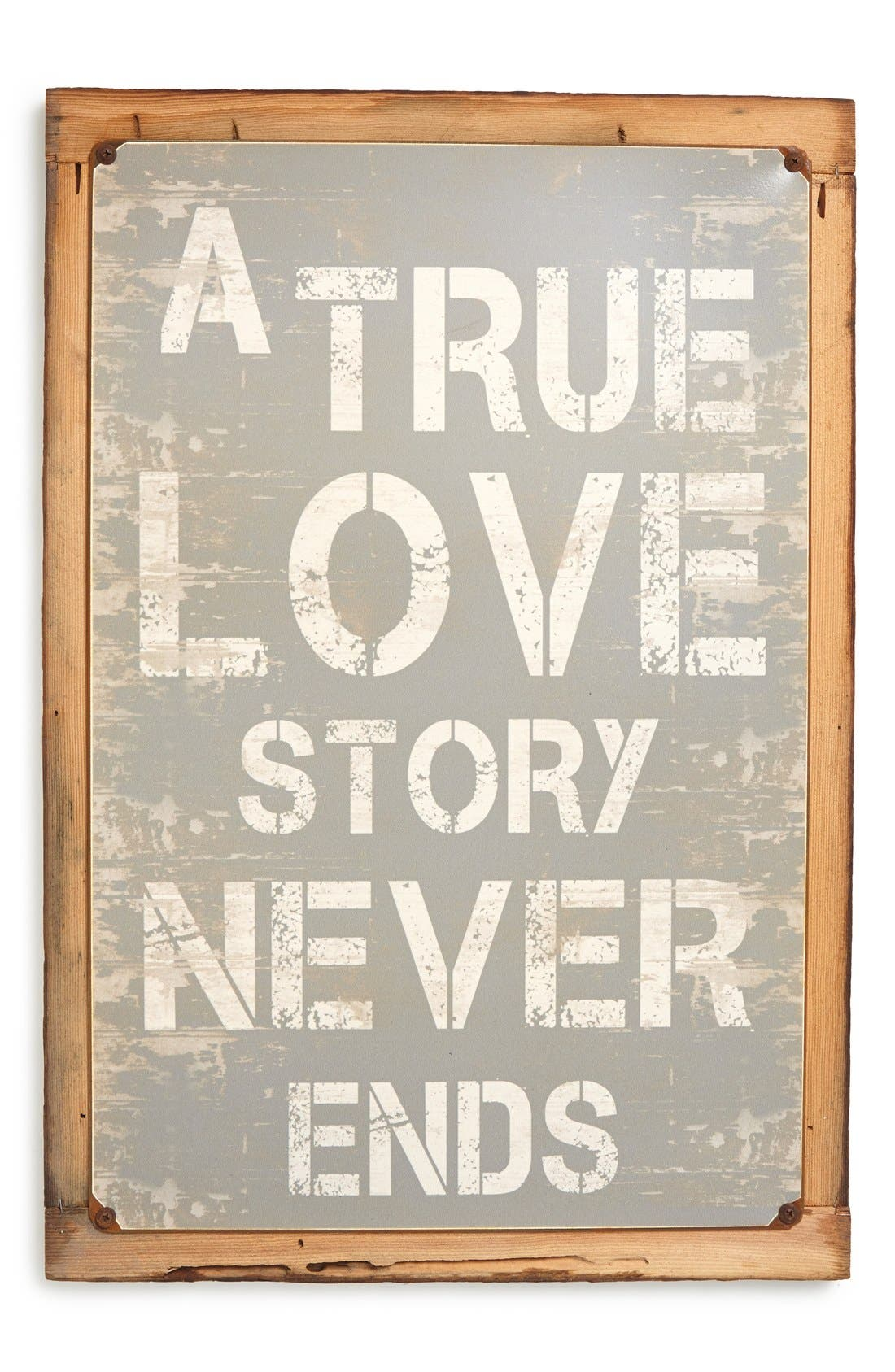 Alternate Image 1 Selected - Poncho & Goldstein 'True Love Story' Sign