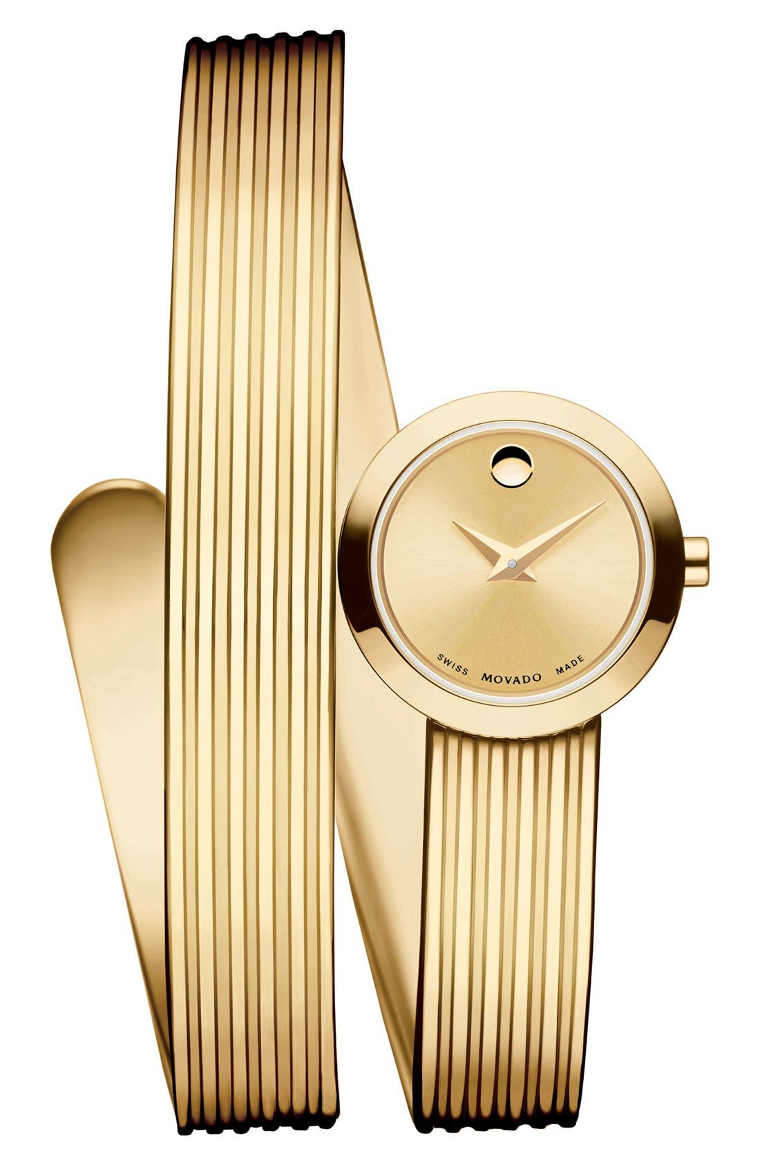 Alternate Image 1 Selected - Movado 'Museum Wrap' Grooved Bangle Watch, 20mm