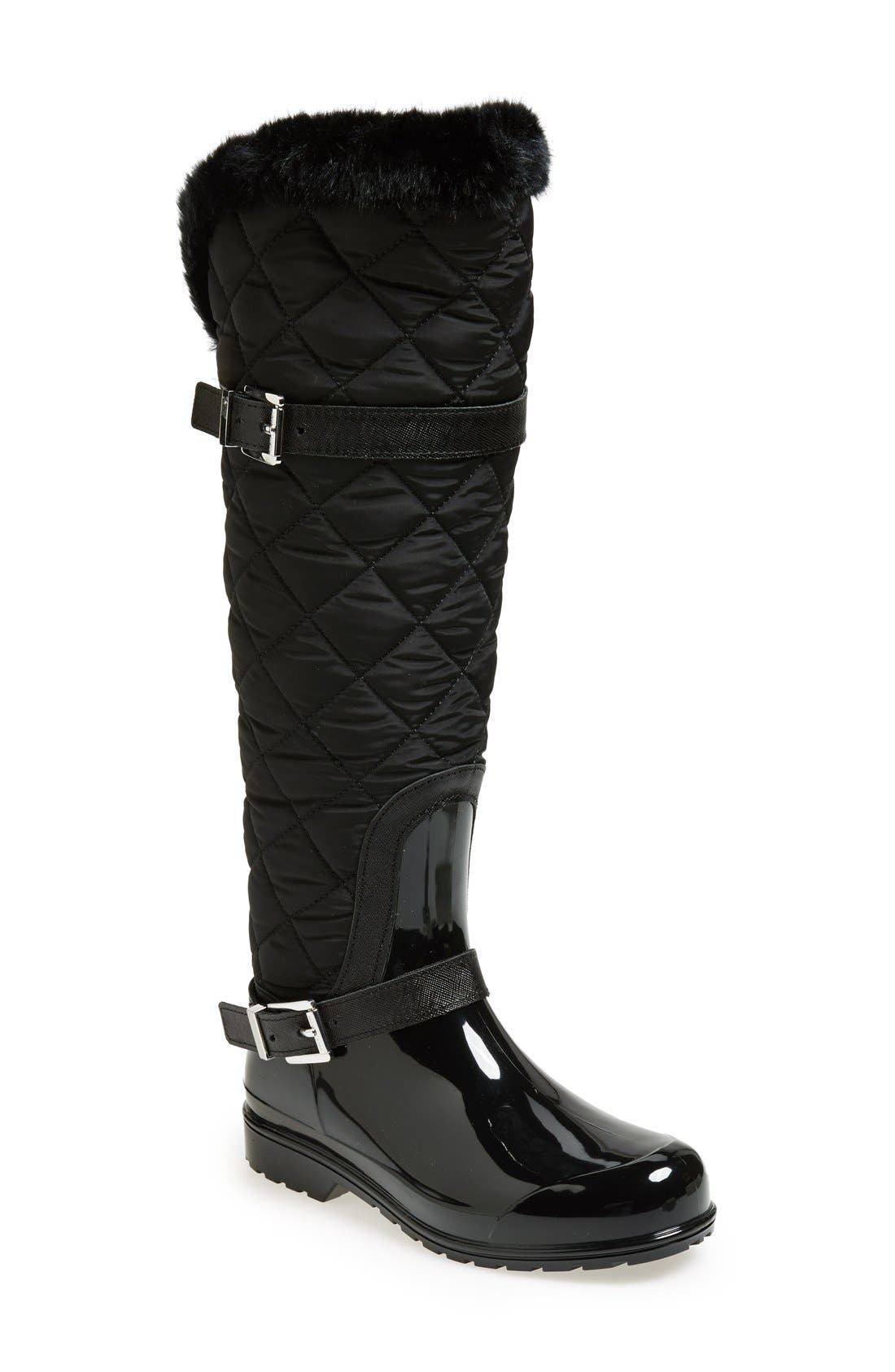 Main Image - MICHAEL Michael Kors 'Fulton' Quilted Rain Boot (Women)