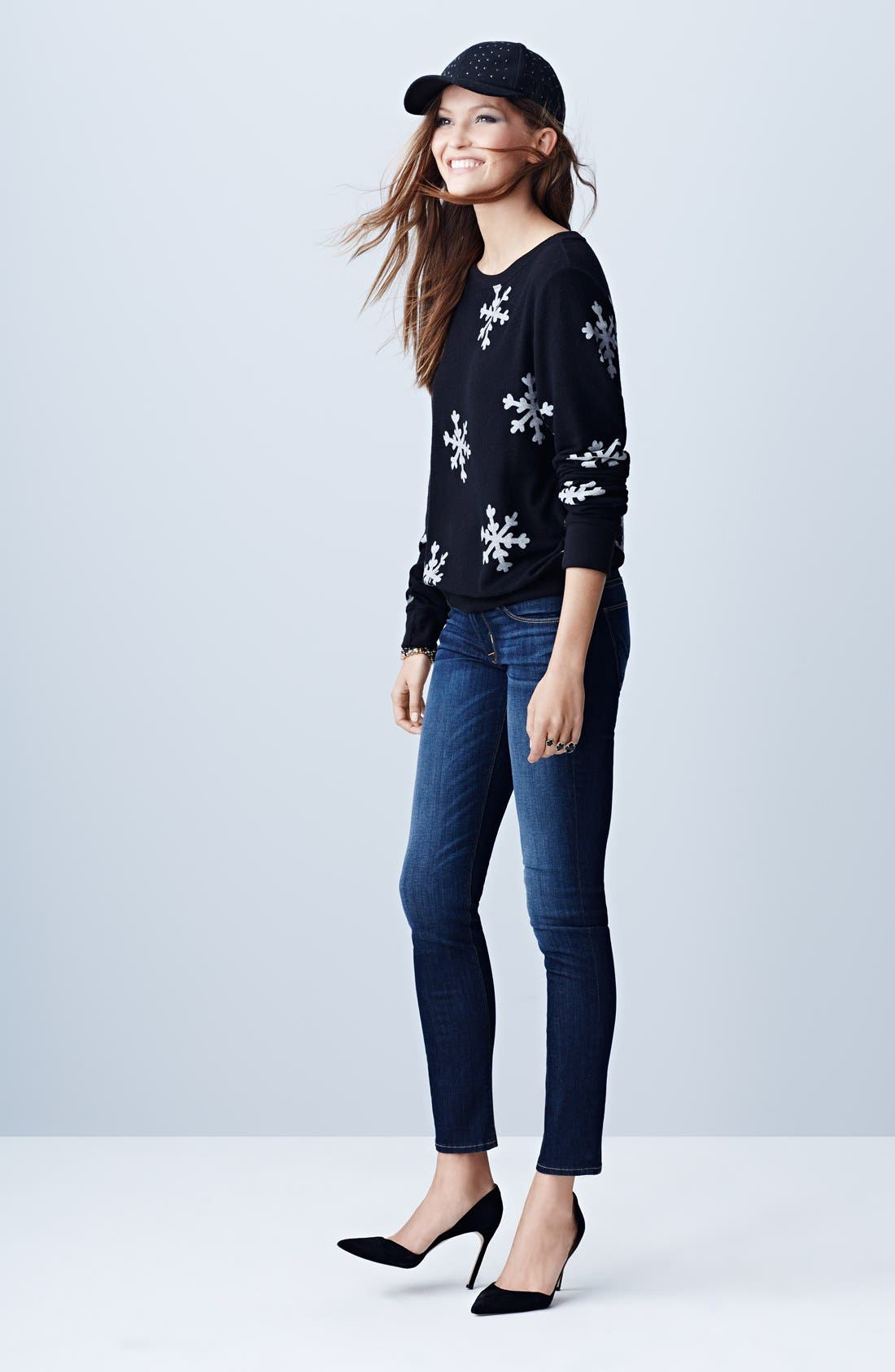 Alternate Image 5  - Wildfox 'Snowflake' Baggy Beach Jumper Pullover