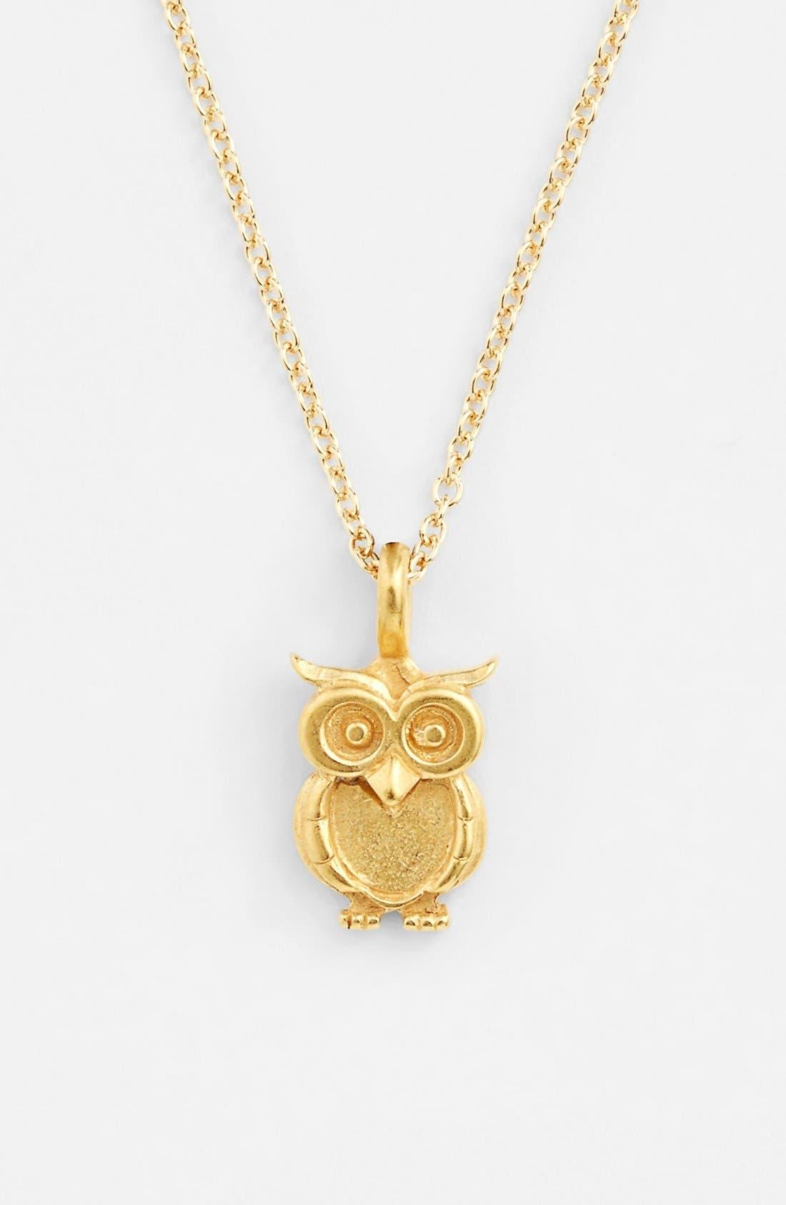 Alternate Image 2  - Dogeared 'Reminder - Wisdom' Boxed Owl Pendant Necklace