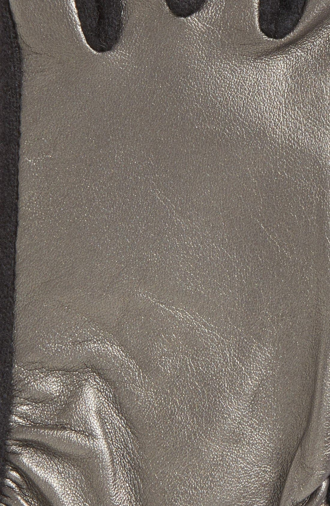 Alternate Image 3  - Echo 'Touch - Ruched Leather Mix' Gloves