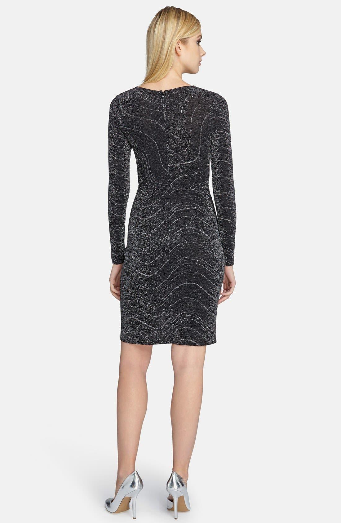 Alternate Image 2  - Catherine Catherine Malandrino 'Marilyn' Metallic Kit Dress