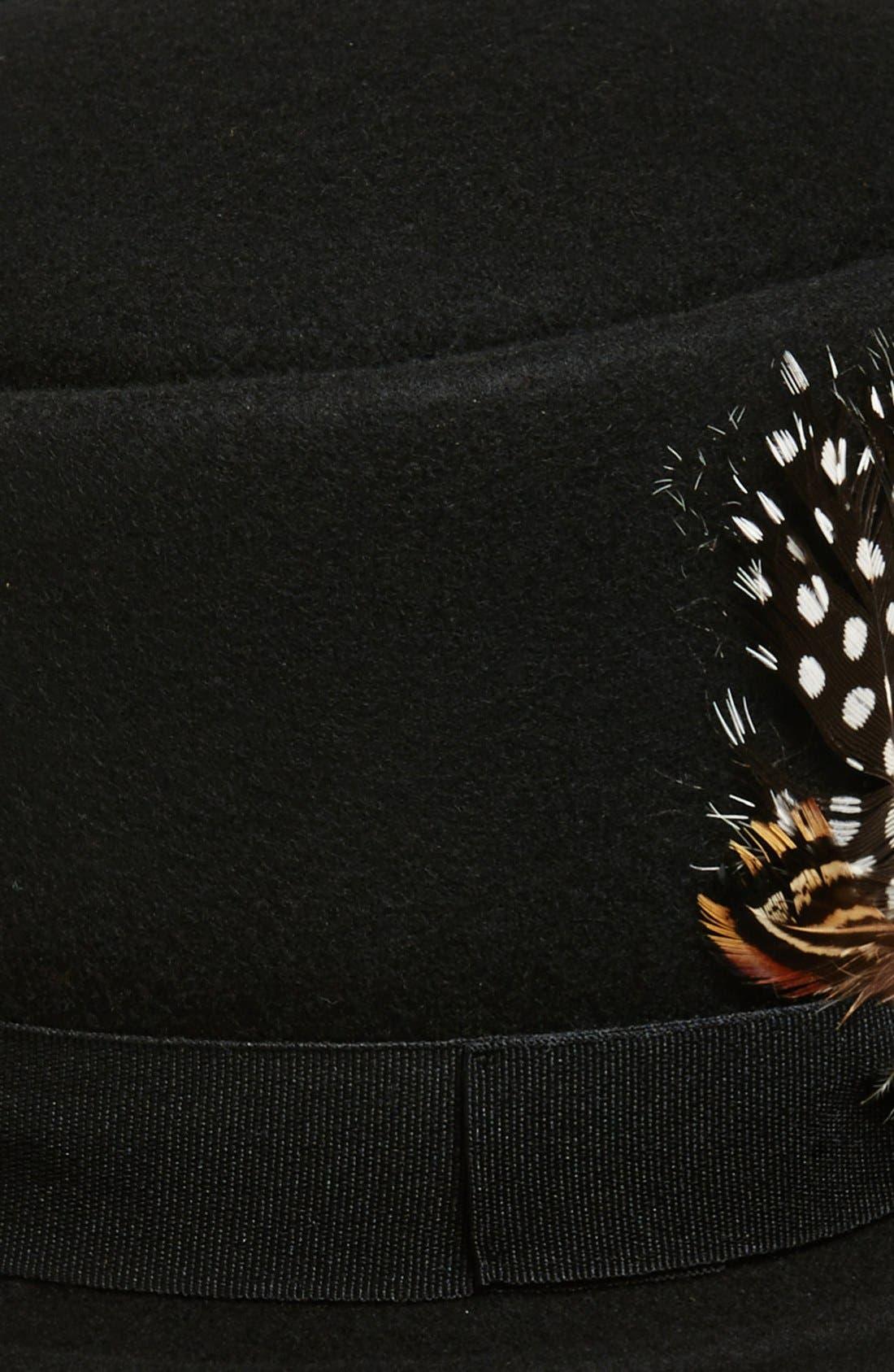 Alternate Image 2  - Tildon Feather Embellished Wool Bowler Hat