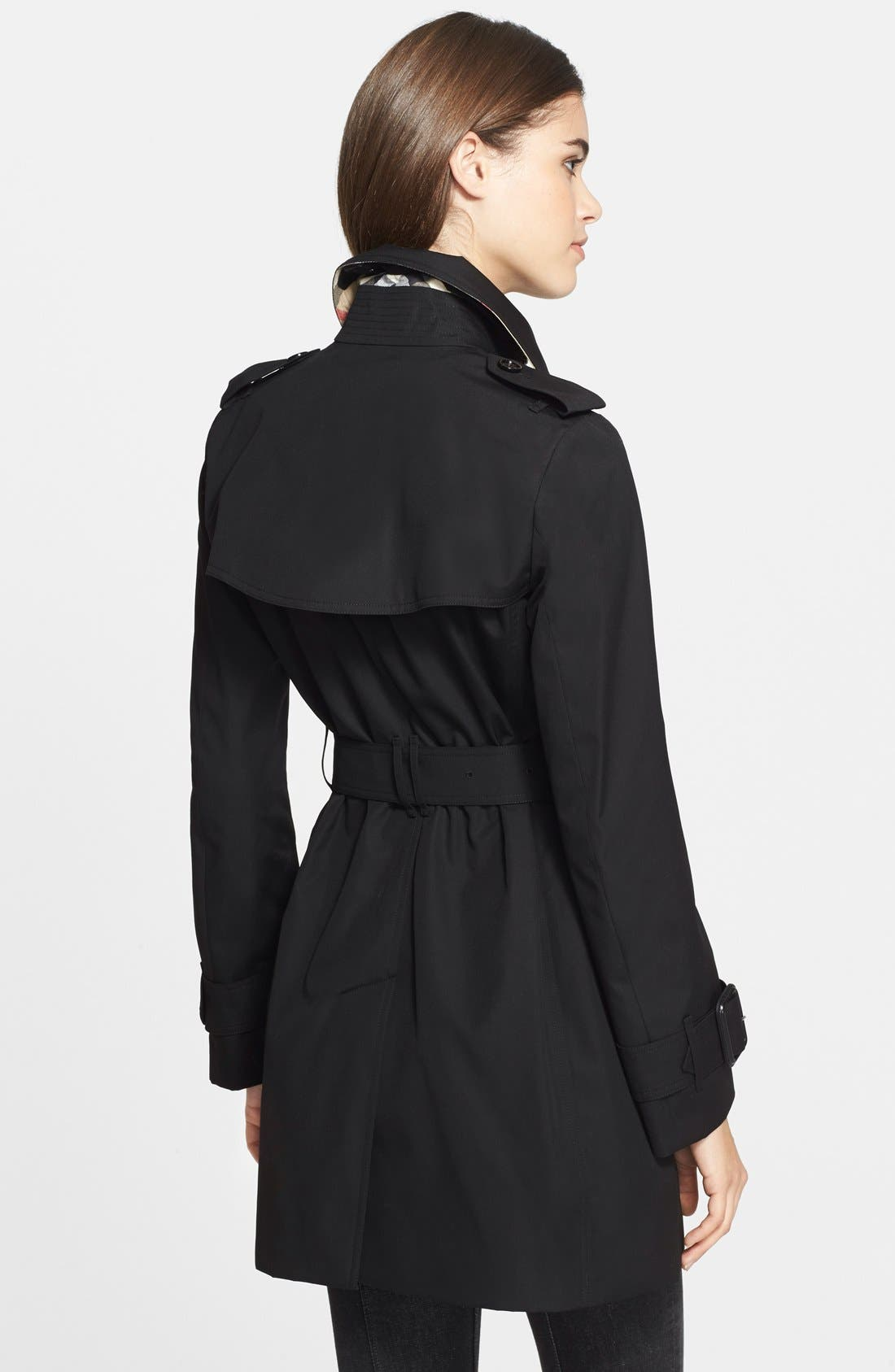 Alternate Image 3  - Burberry Brit 'Marystow' Double Breasted Poplin Short Trench Coat
