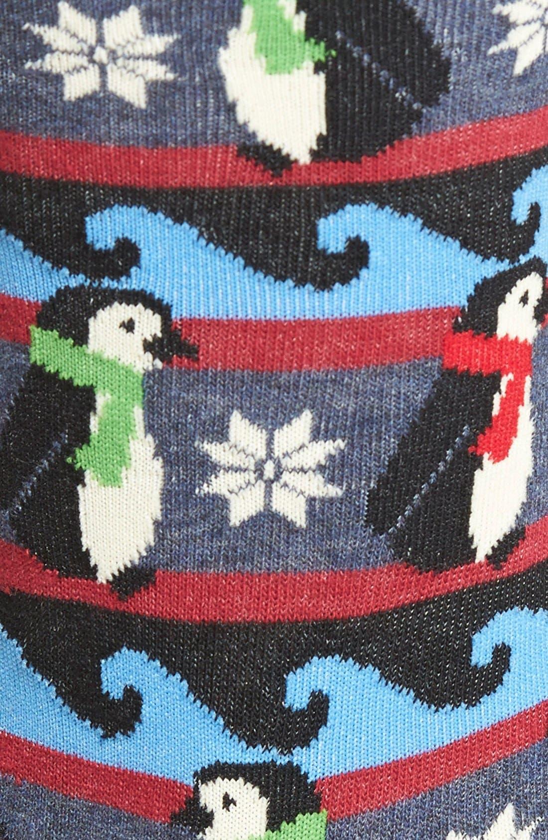 Alternate Image 2  - Hot Sox 'Penguin Fair Isle' Crew Socks