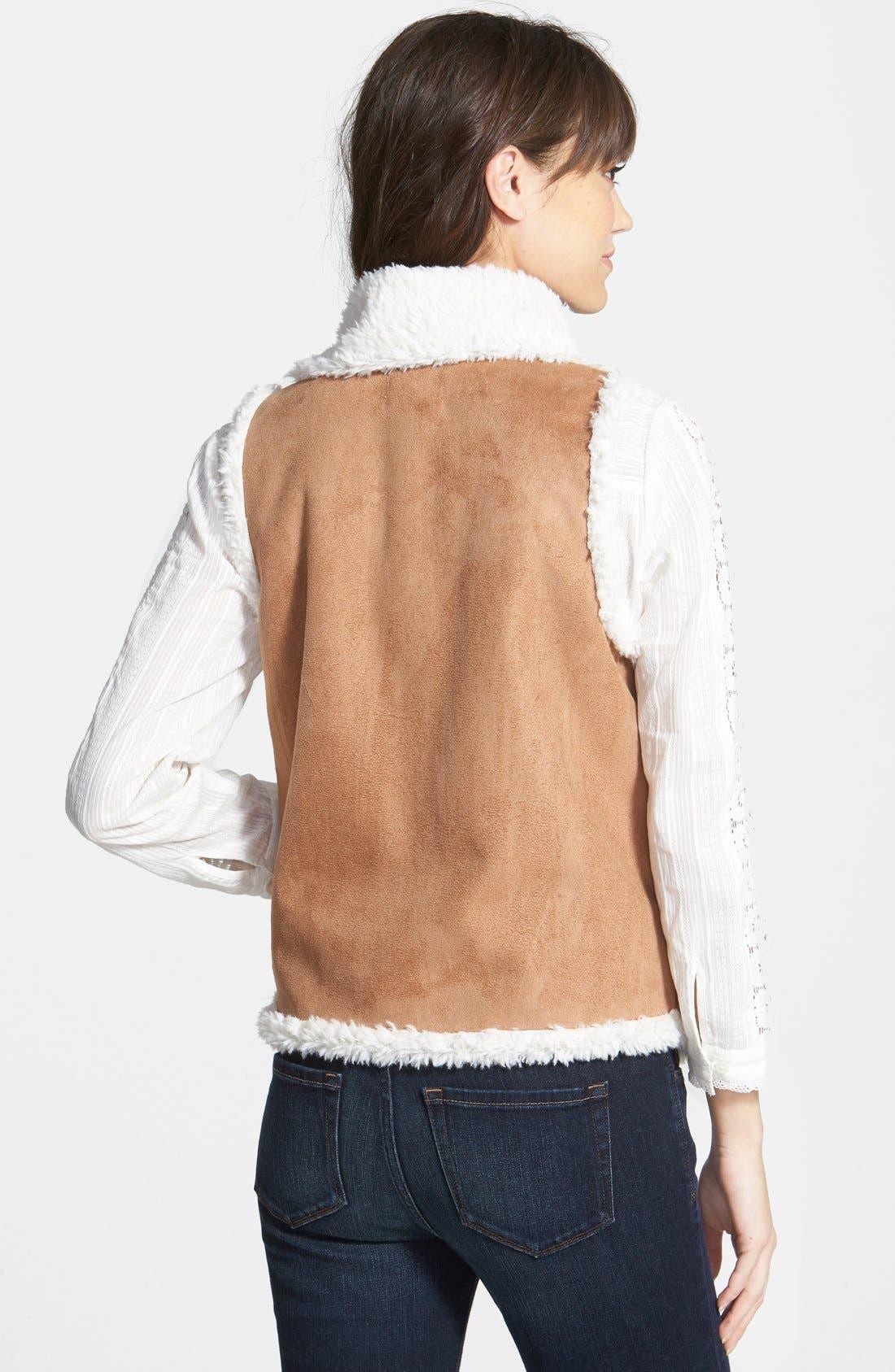 Alternate Image 2  - Hinge Faux Shearling Vest