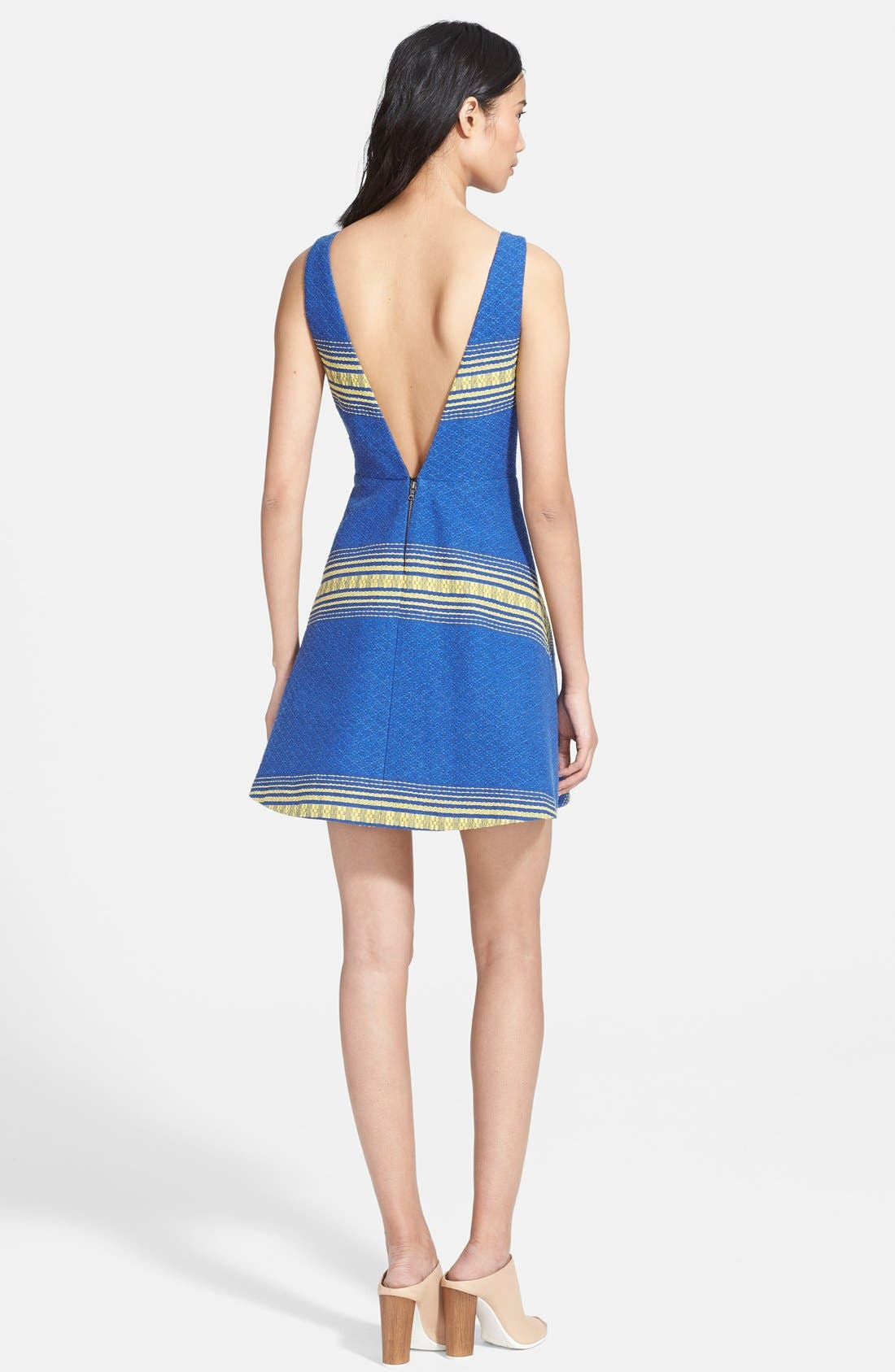 Alternate Image 2  - Alice + Olivia 'Holis' Cotton Fit & Flare Dress